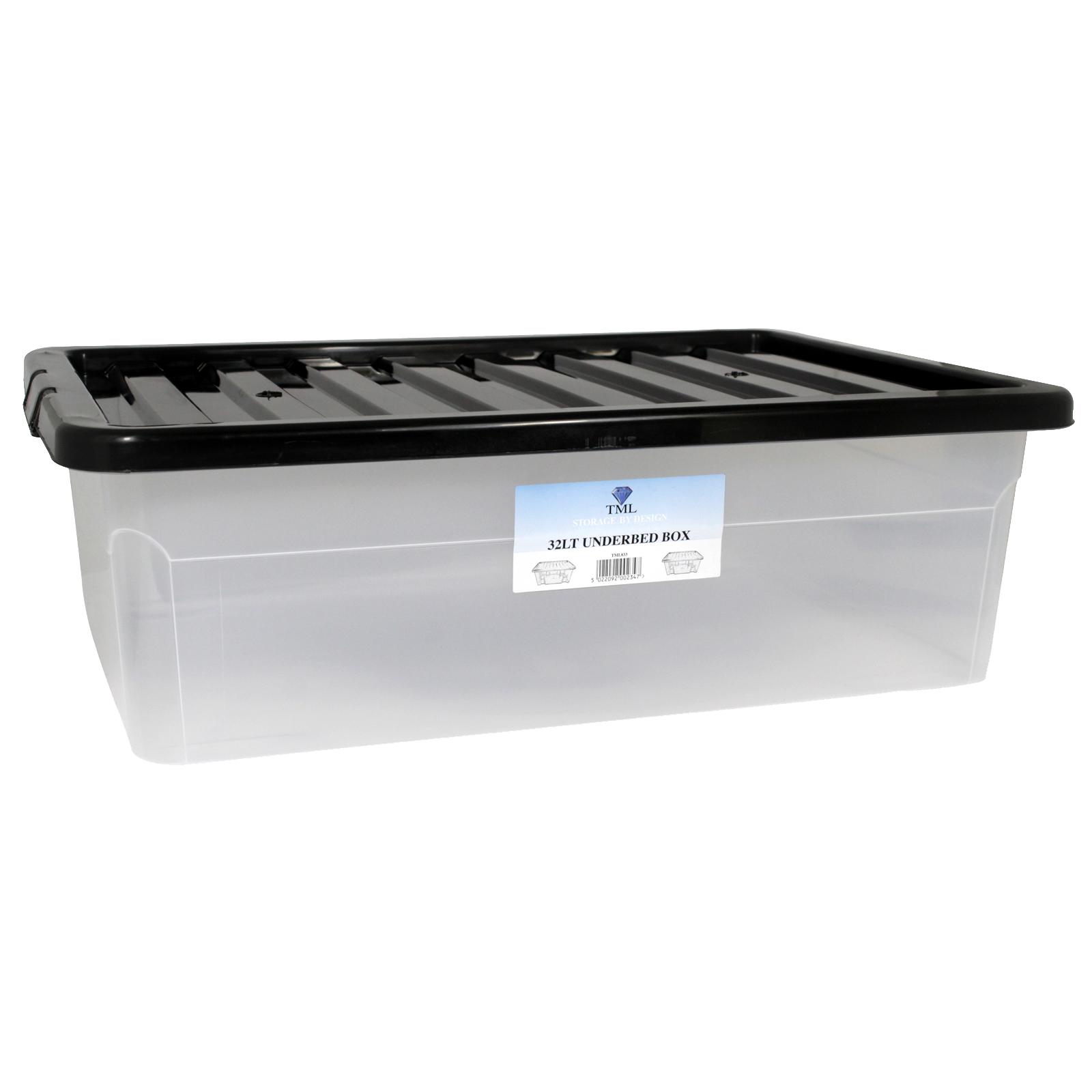 CLEAR BOX+BLACK LID 32L UNDERBED