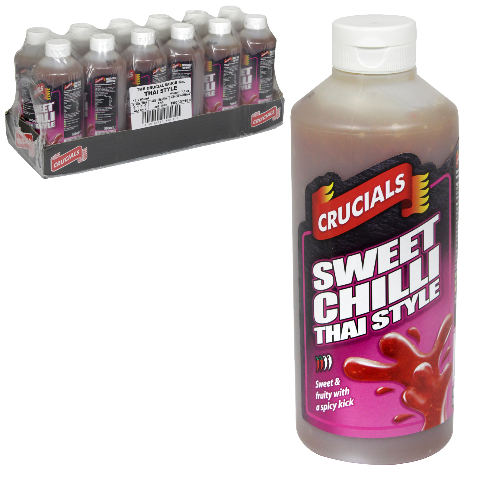 CRUCIAL SQUEEZY 500ML THAI SWEET CHILLI  X12