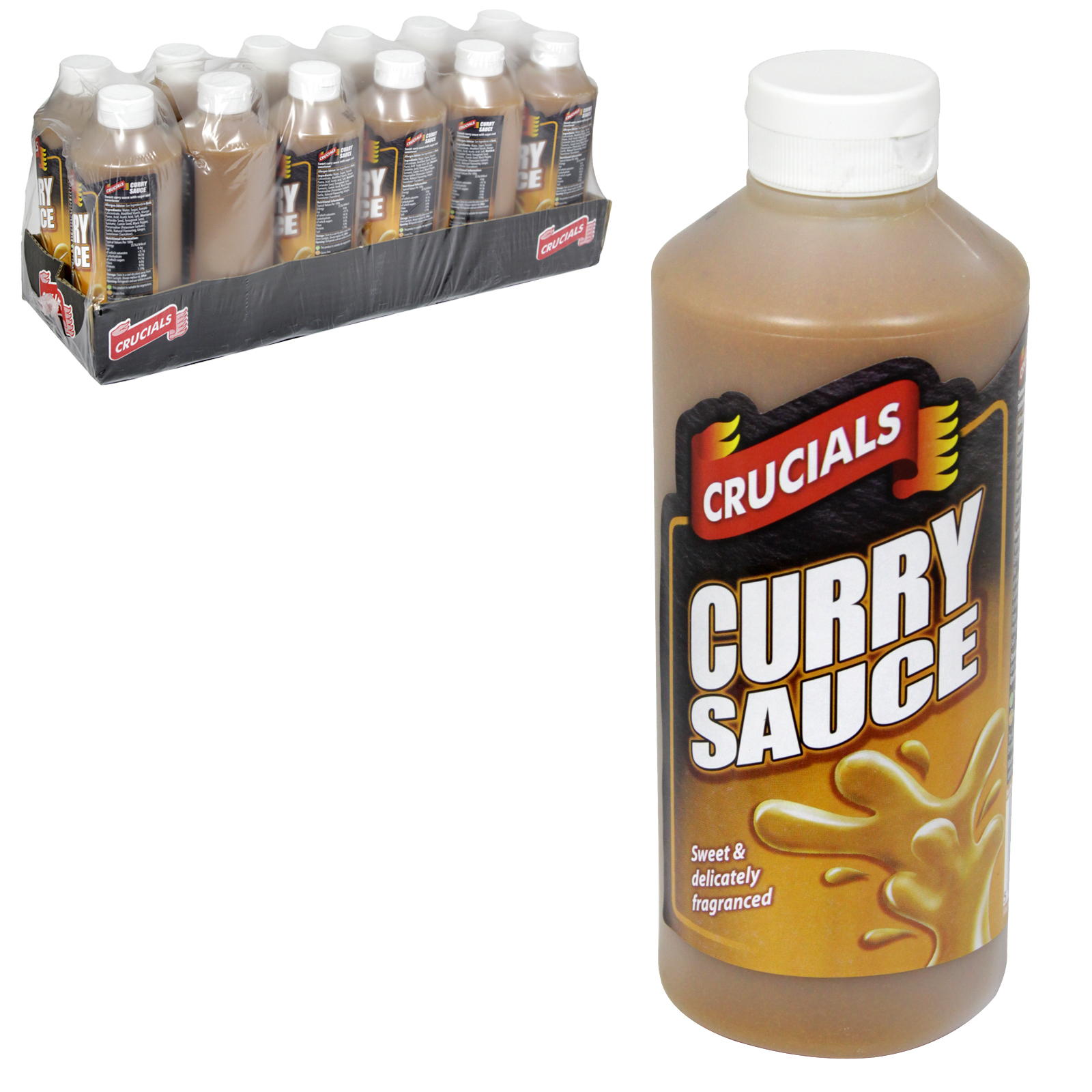 CRUCIALS SQZY 500ML CURRY SAUCE X12