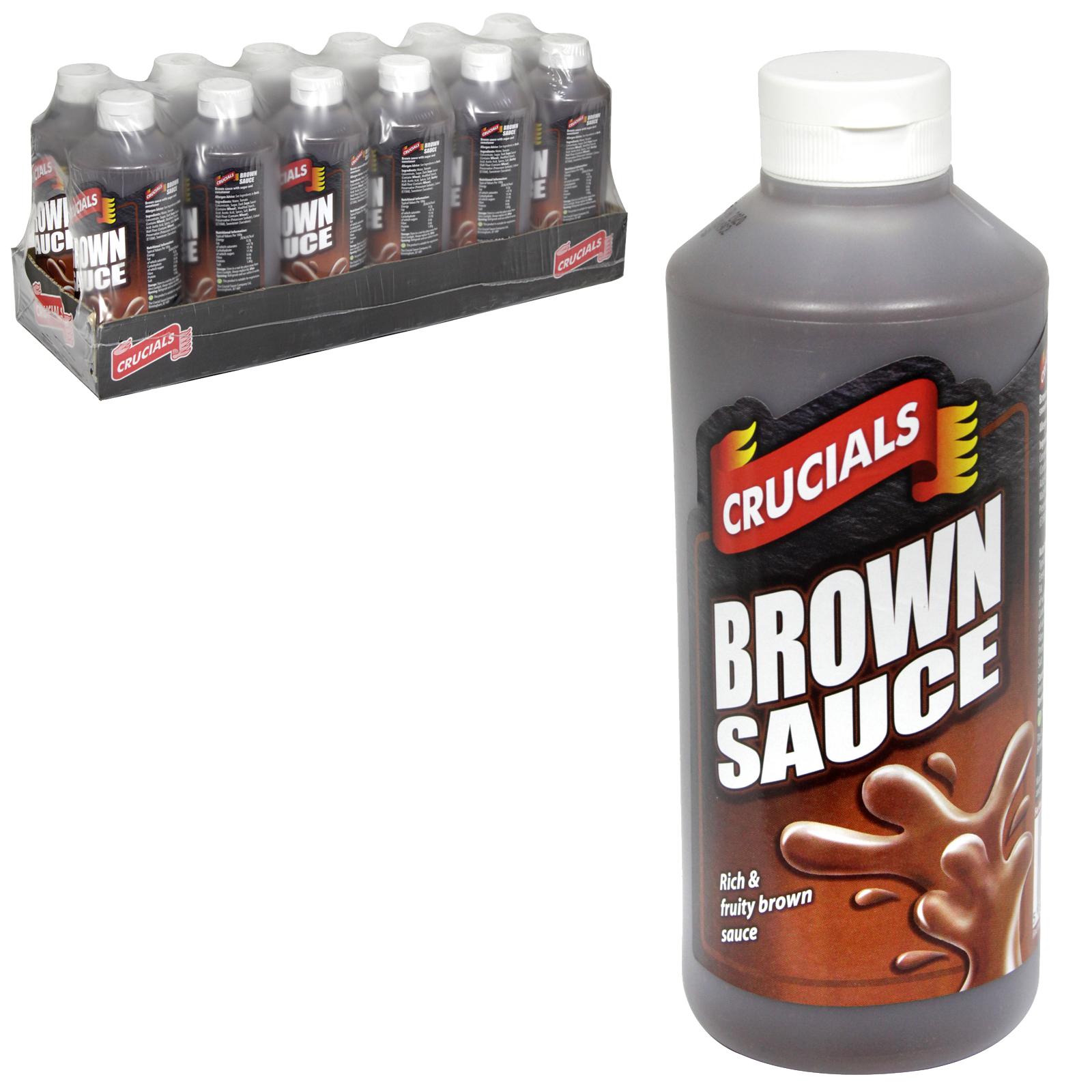 CRUCIAL SQZY 500ML BROWN SAUCE X12