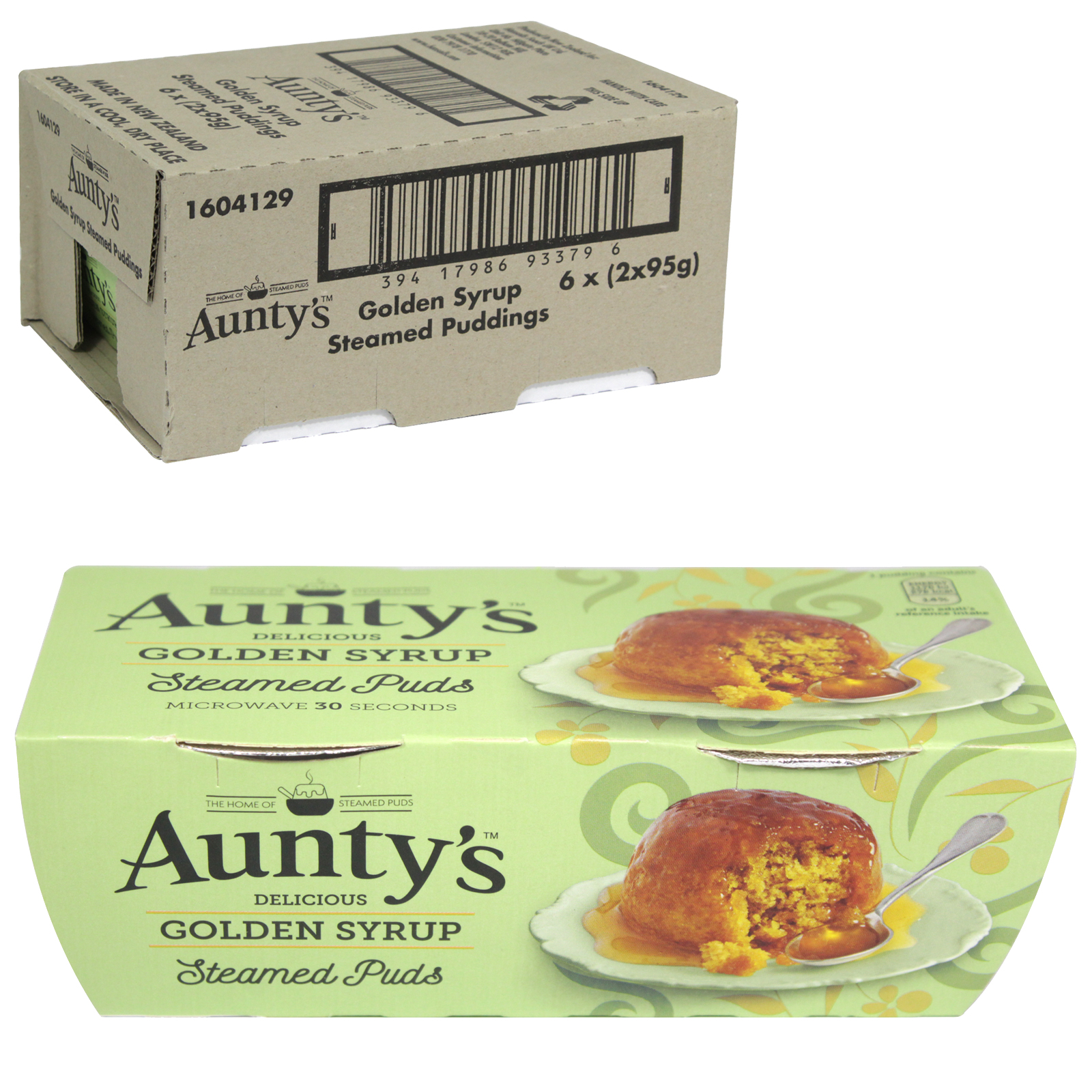 AUNTYS PUDDINGS 2X95GM GOLDEN SYRUP X6