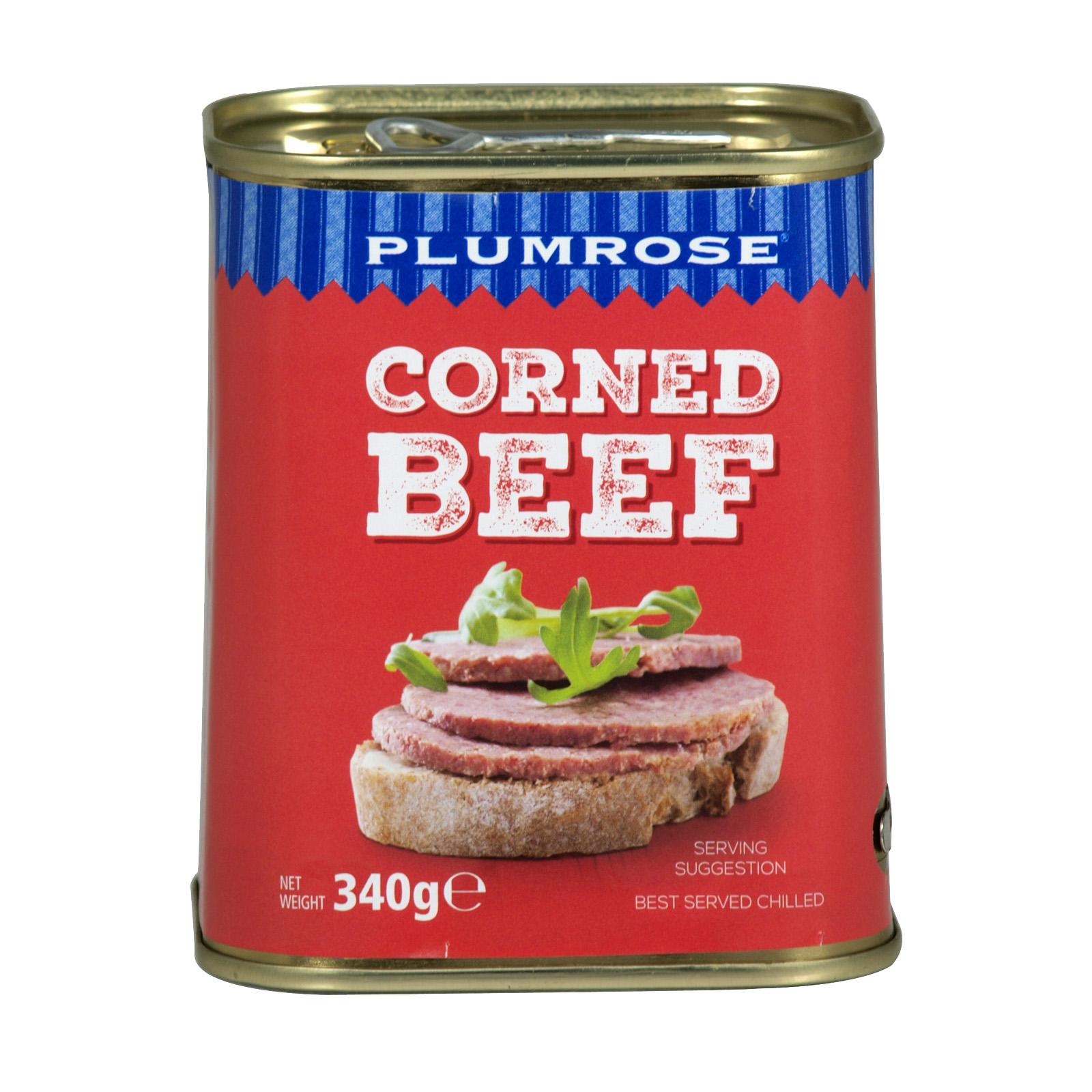 PLUMROSE CORNED BEEF 340GM PM ?2.79 X6