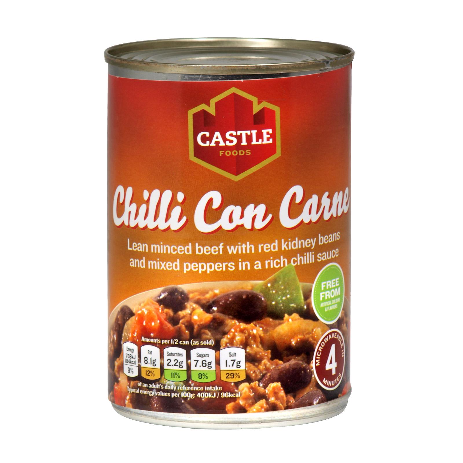 CASTLE CHILLI CON CARNE 385GM X12