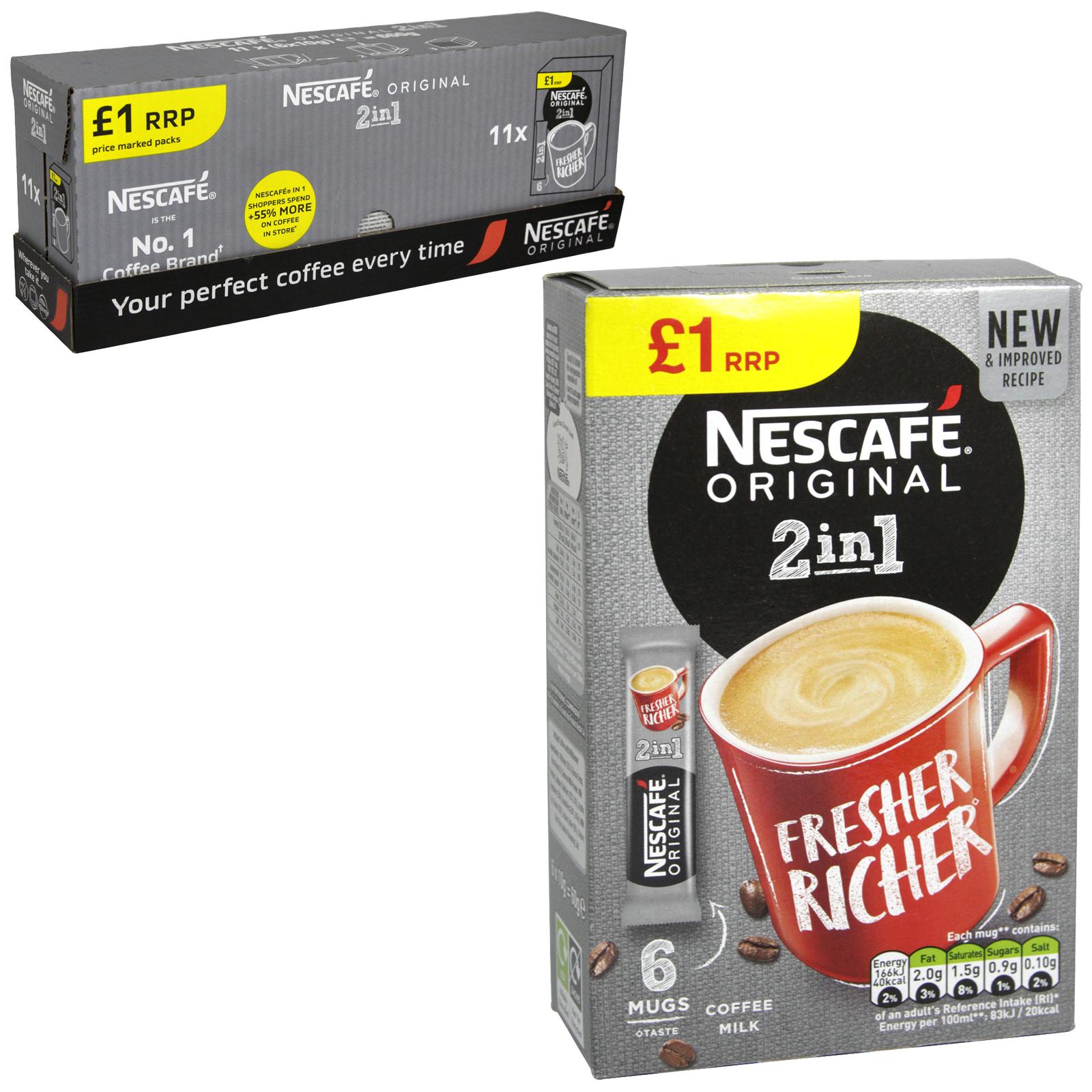 NESCAFE 2IN1 COFFEE 6 SACHETS PM ?1 X11