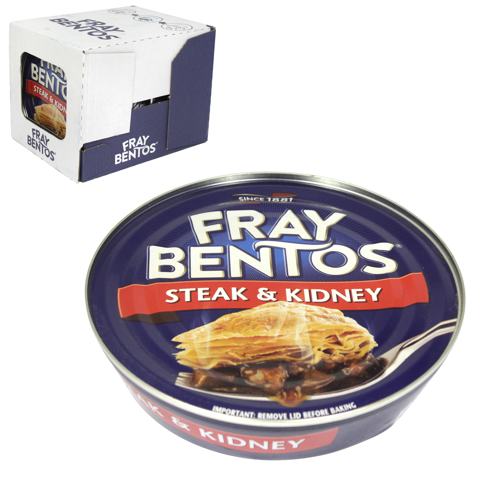 FRAY BENTOS PIE 425G STEAK & KIDNEY X6