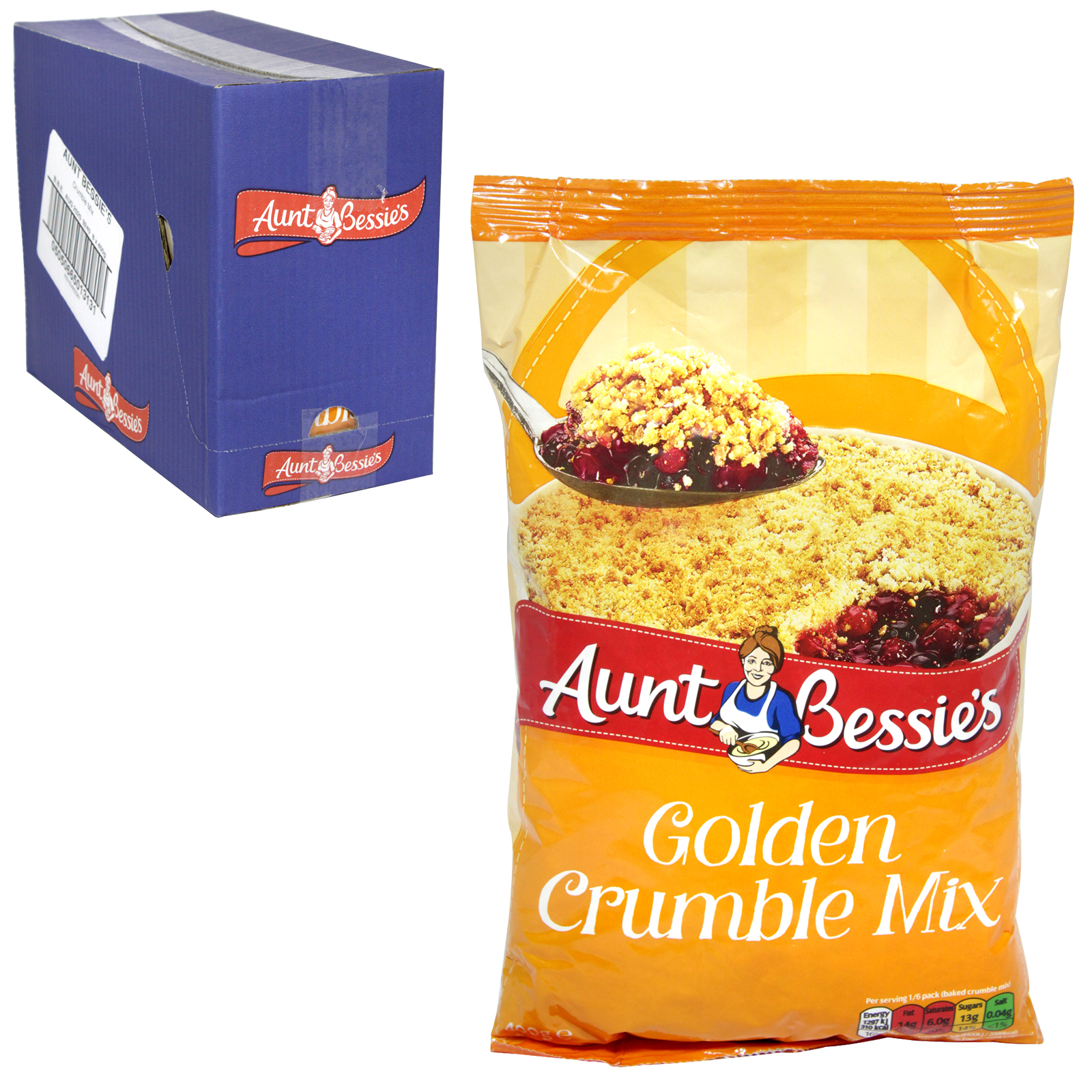 AUNT BESSIES GOLDEN CRUMBLE MIX 400G X 8