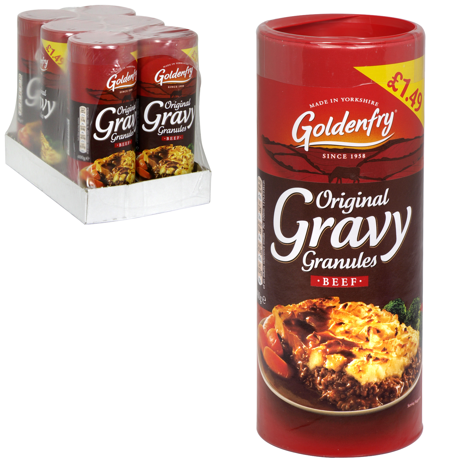 GOLDEN FRY BEEF GRAVY GRANULES 400G PM ?1.49 X6