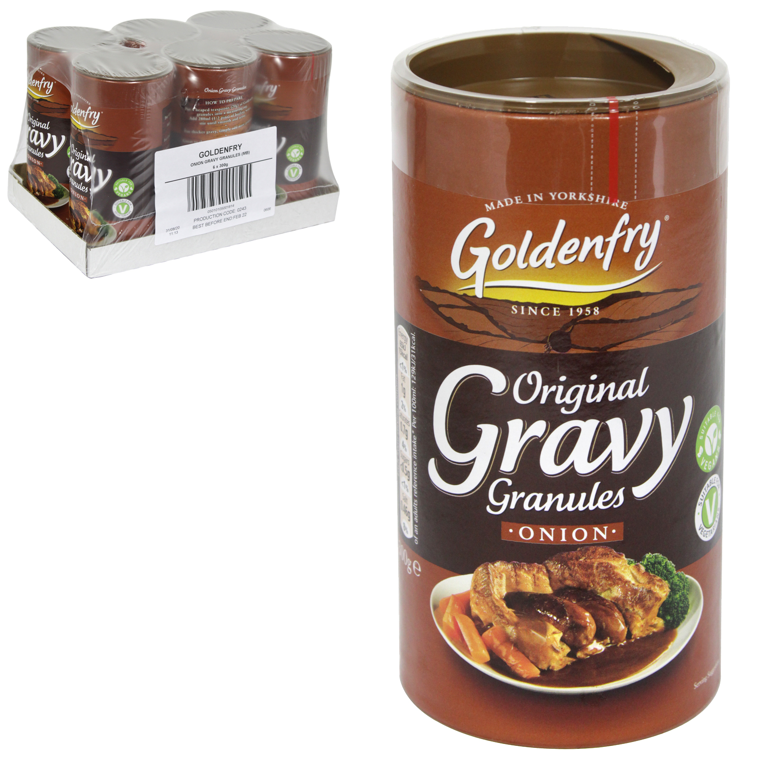 GOLDEN FRY ONION GRAVY GRANULES 400G PM ?1.49 X6
