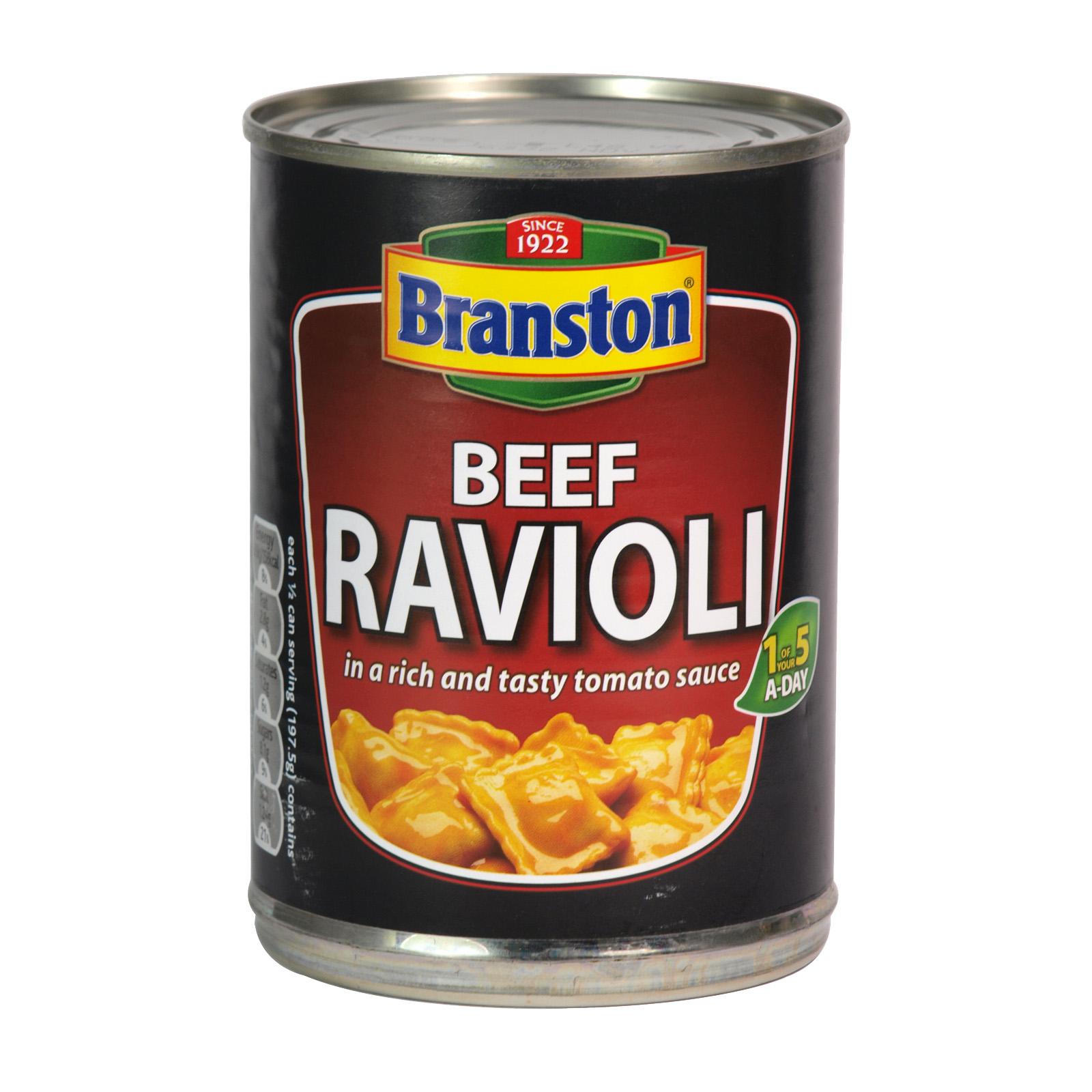 BRANSTON BEEF RAVIOLI 395GM X6