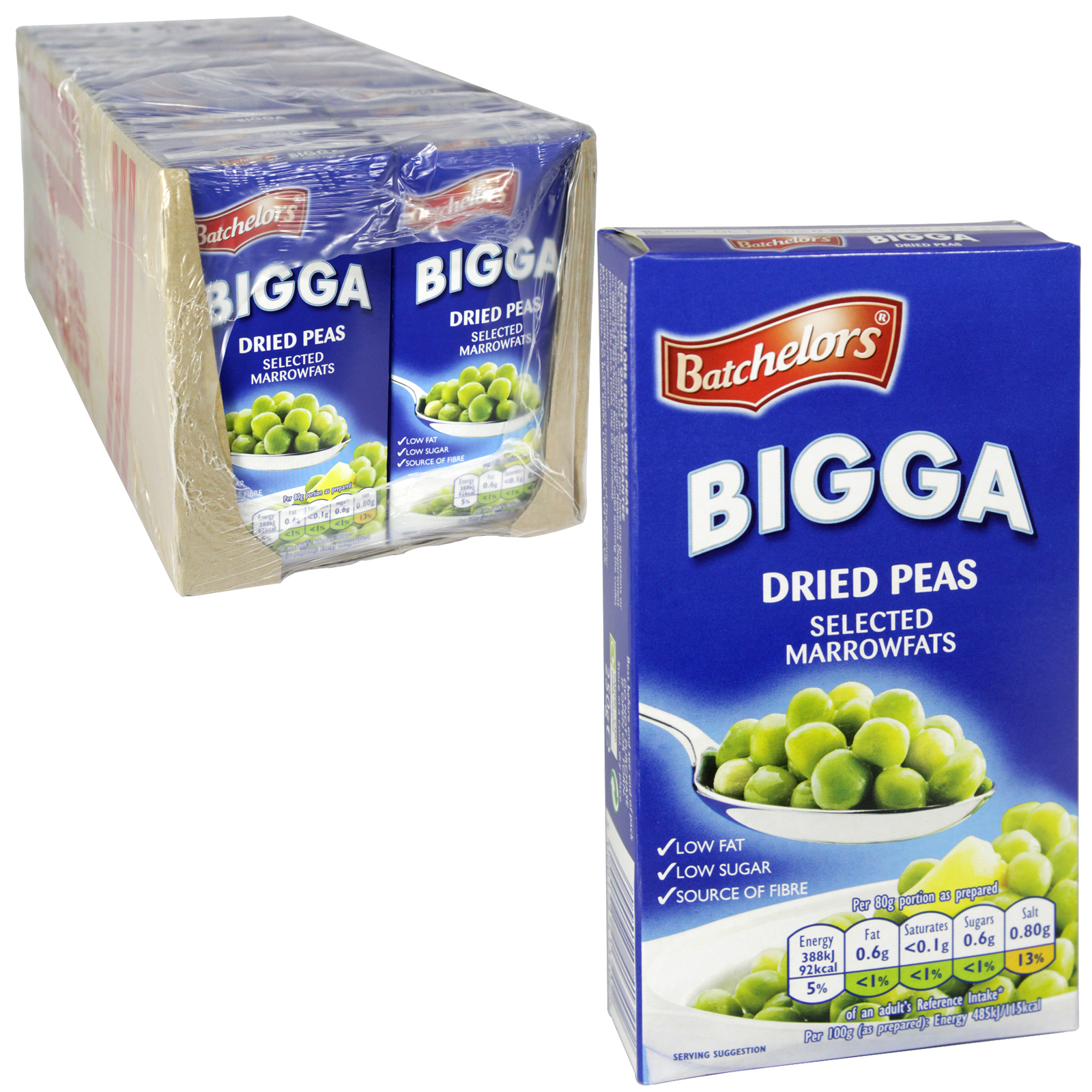 BATCHELORS BIGGA DRIED PEAS BOX 250G X24