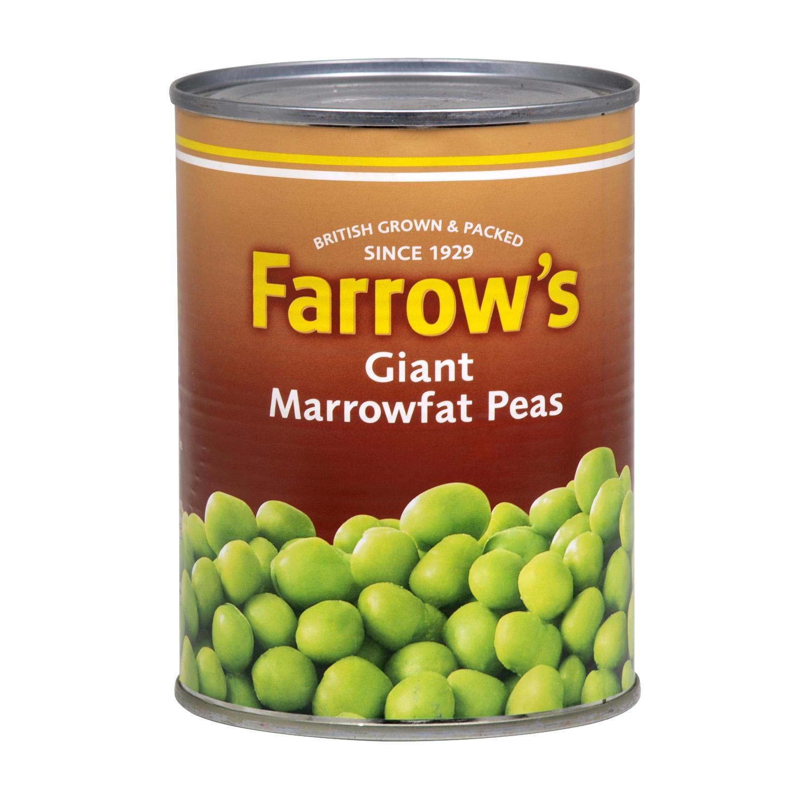 FARROWS GIANT MARROWFAT PEAS 538GM X24