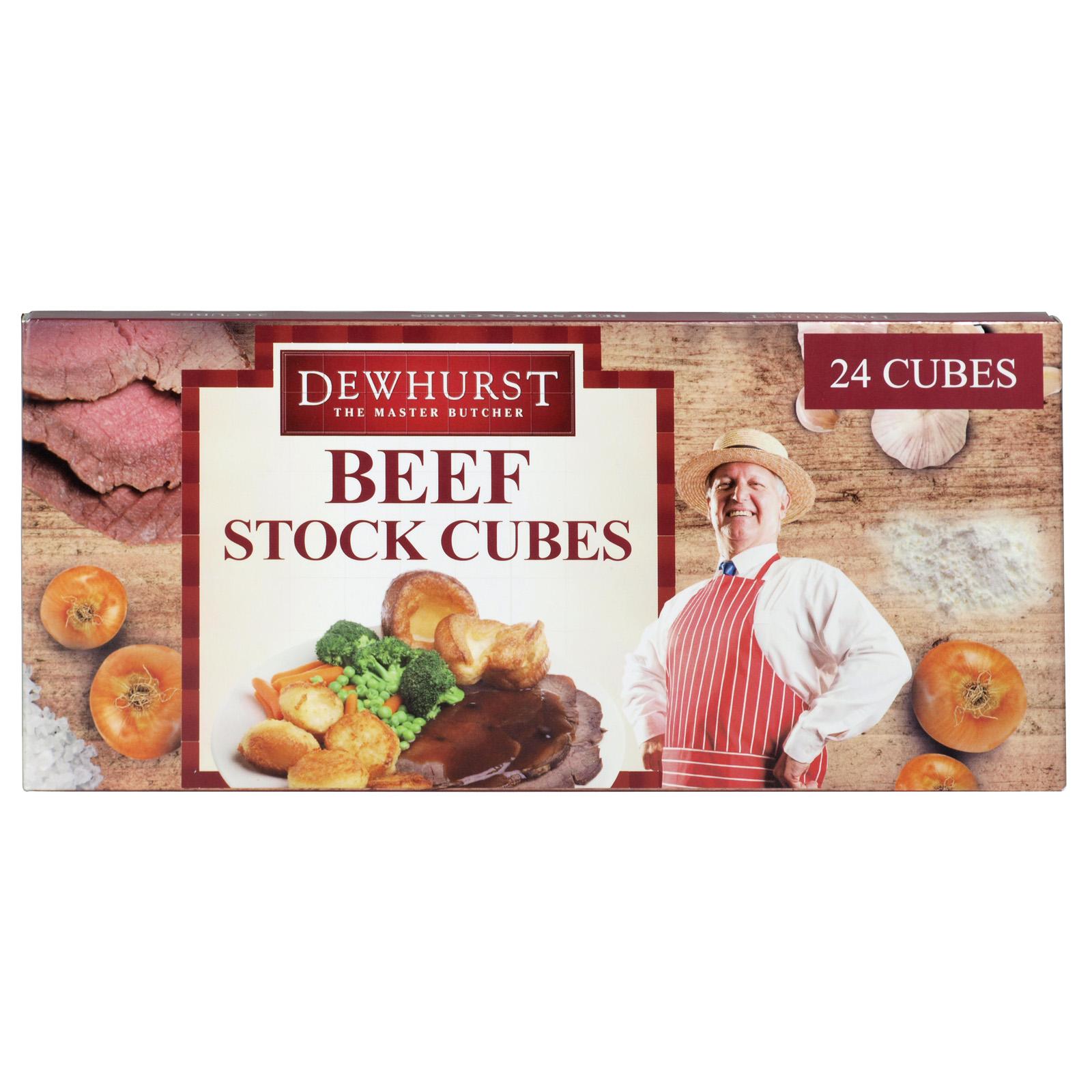 DEWHURST BEEF STOCK CUBES 24S X6
