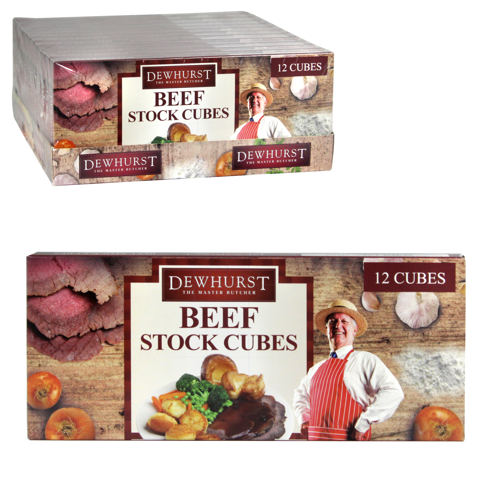 DEWHURST BEEF STOCK CUBES 12S X12