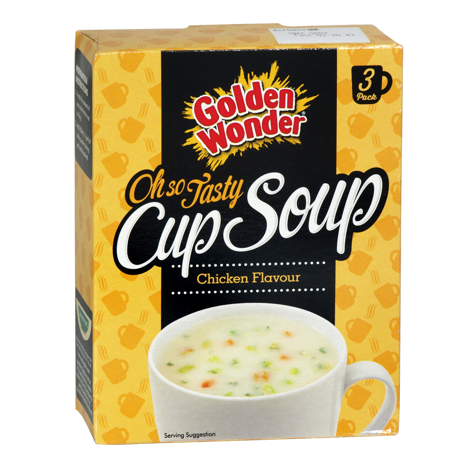 GOLDEN WONDER CUP SOUP CHICKEN 3 PK X12