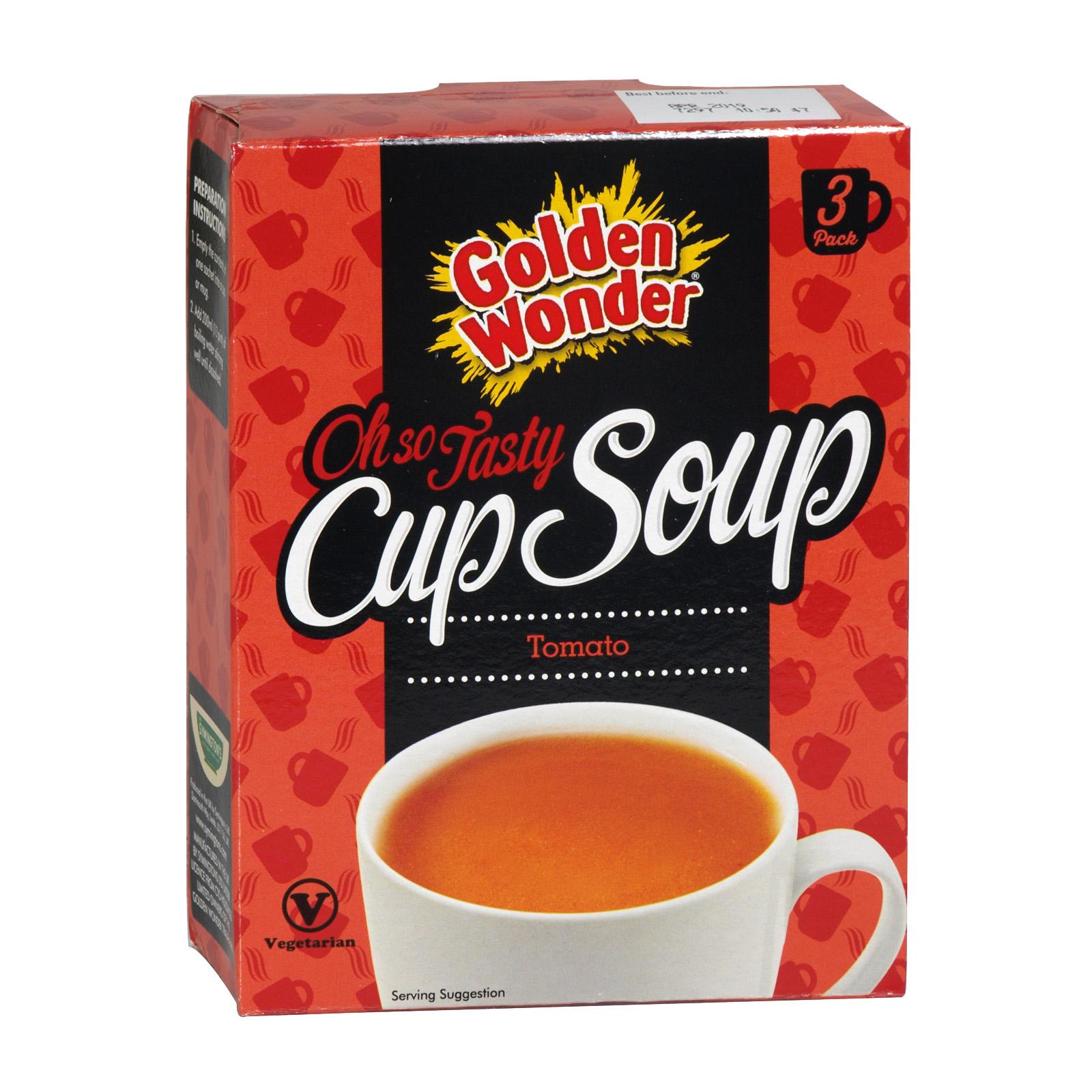 GOLDEN WONDER CUP SOUP TOMATO 3PK