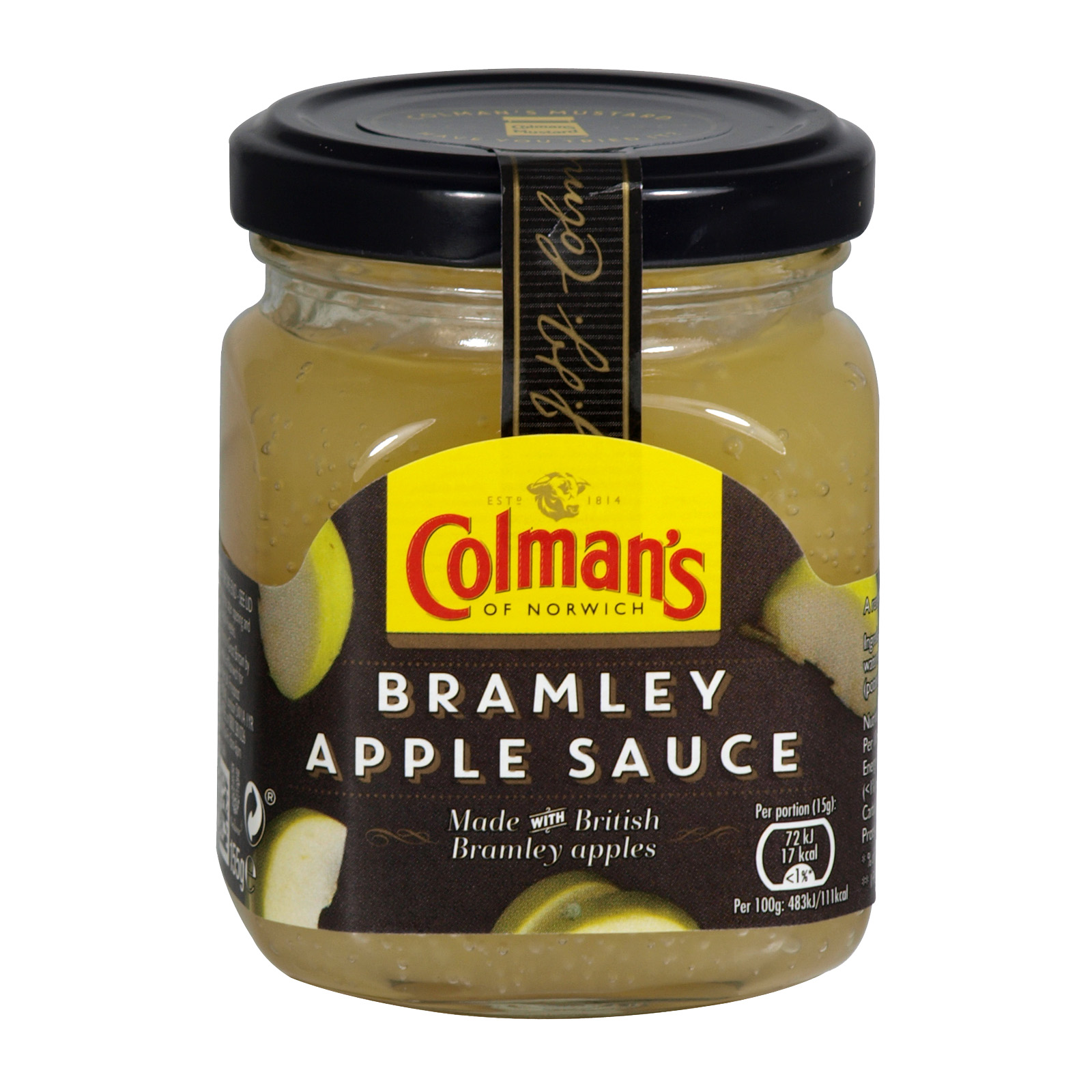 COLMANS BRAMLEY APPLE SAUCE 155G JAR