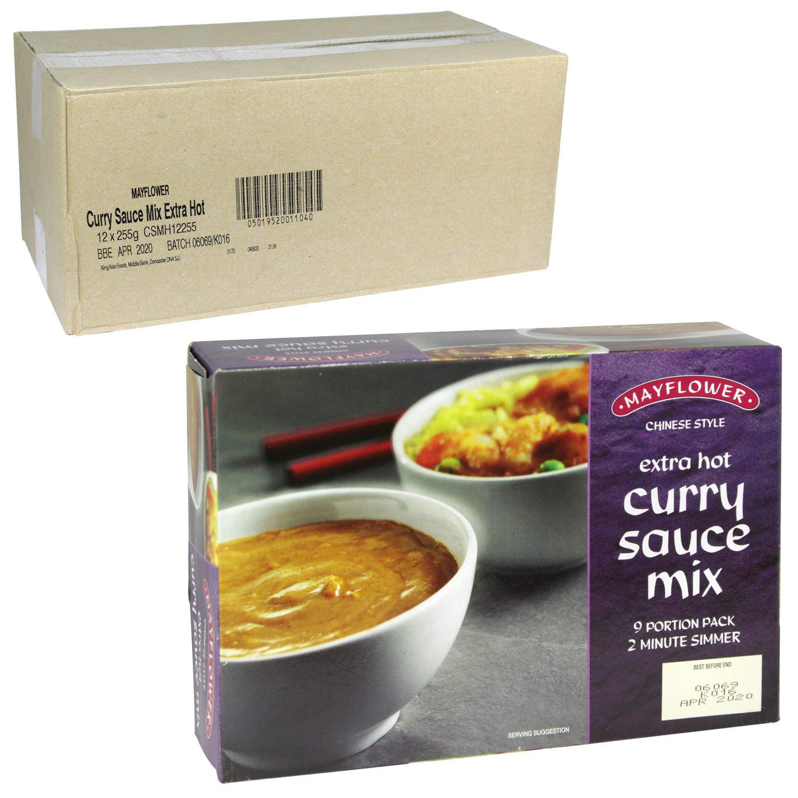 MAYFLOWER CHINESE CURRY MIX EXTRA HOT 255GM X12