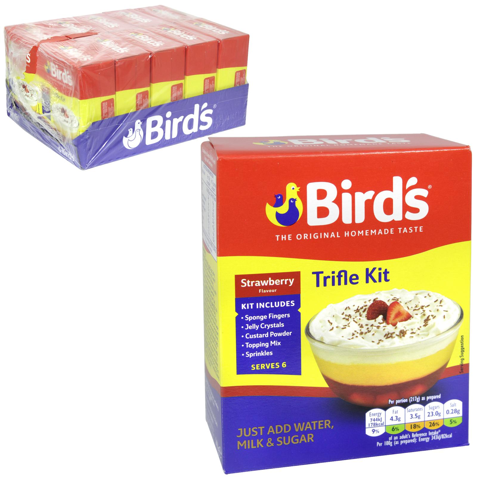 BIRDS STRAWBERRY TRIFLE 141GM ASDA 1.49 X12