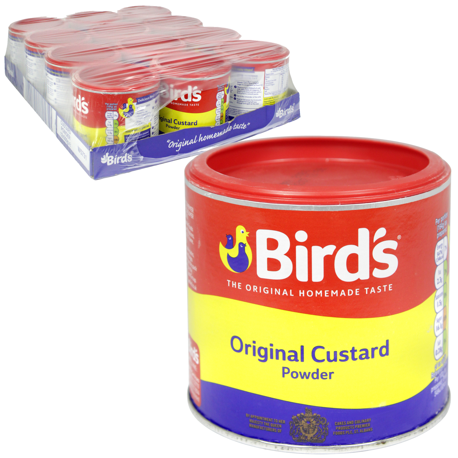 BIRDS CUSTARD POWDER 300GM X12
