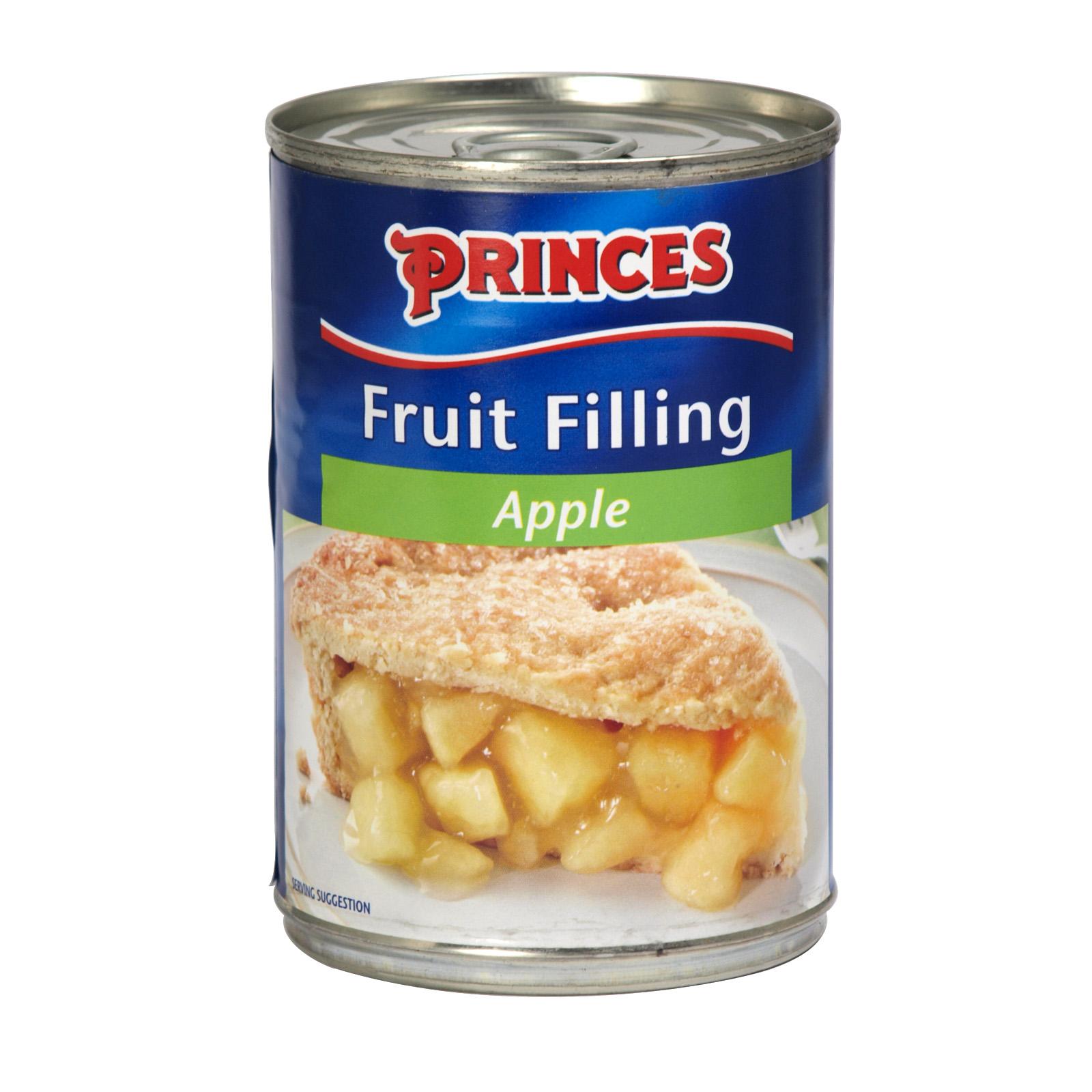 PRINCES FRUIT FILLING BRAMLEY APPLE 395GM X6