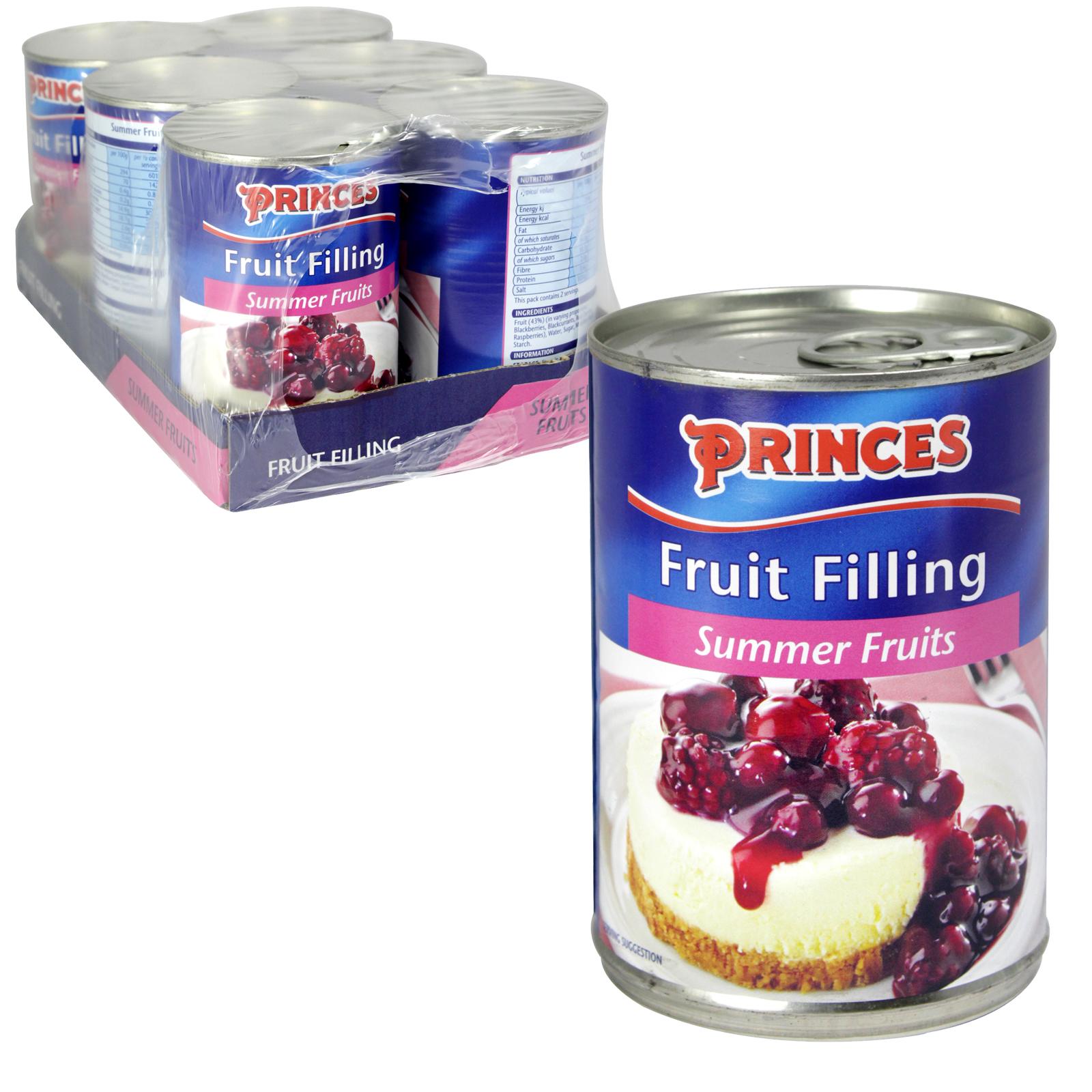 PRINCES FRUIT FILLING SUMMER FRUITS X6