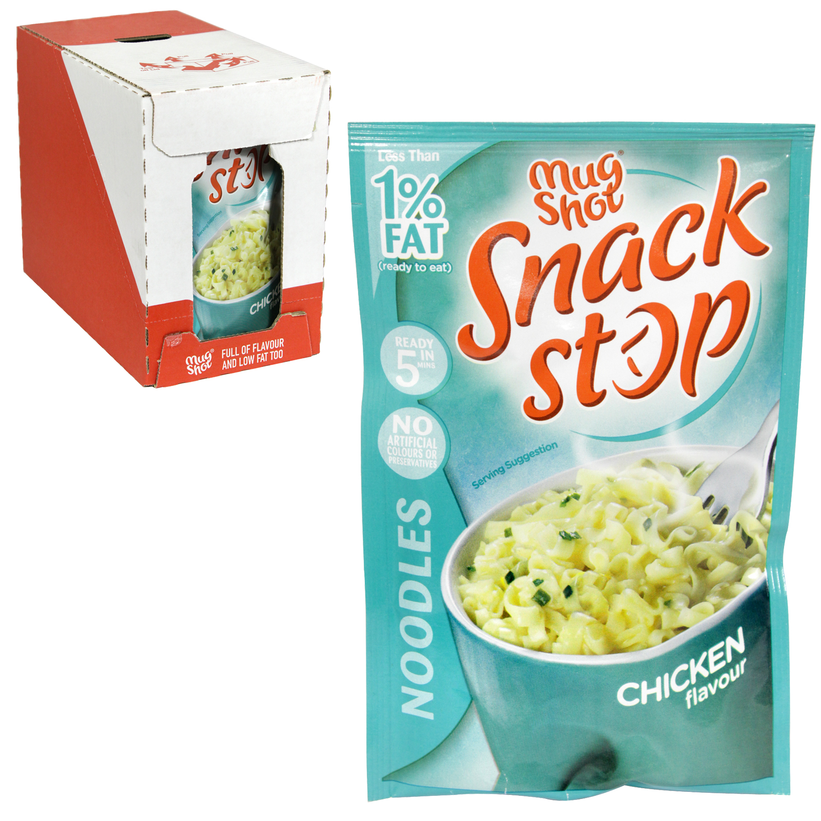 MUG SHOT SNACK CHICKEN NOODLE 46GM  X10
