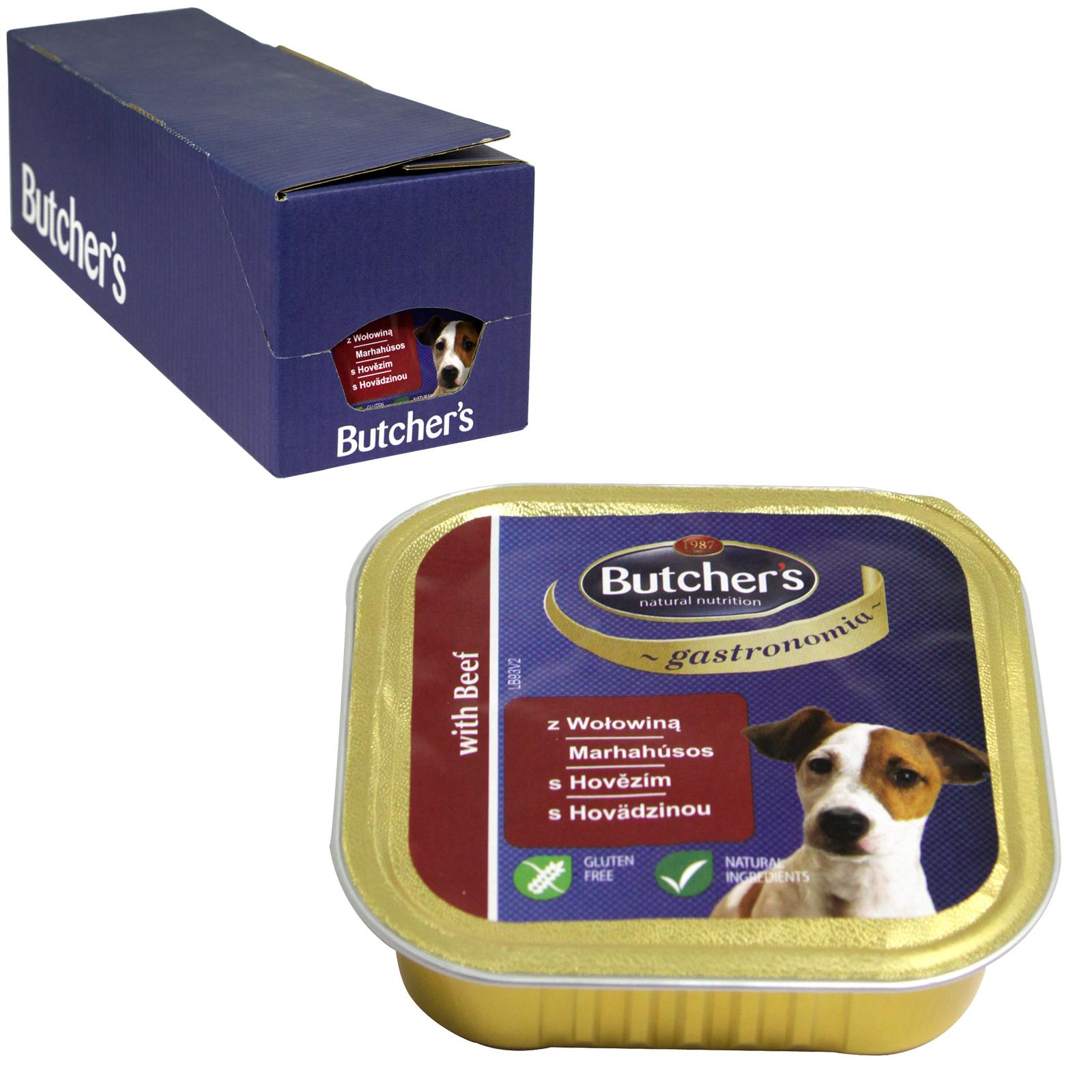 BUTCHERS GASTRONOMIA BEEF FOILS DOG 150G X12