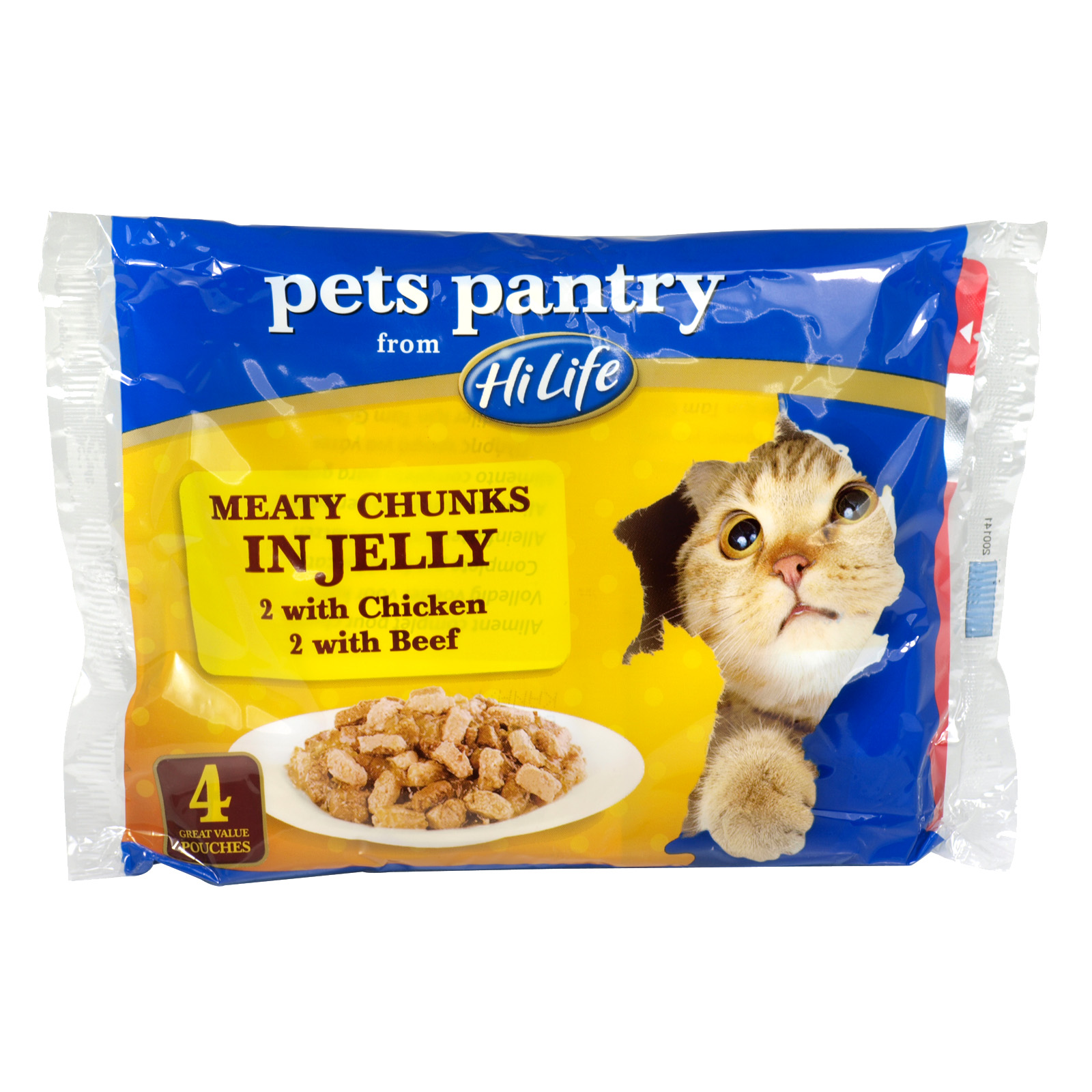PETS PANTRY MEAT CHUNKS IN JELLY 4PK X12
