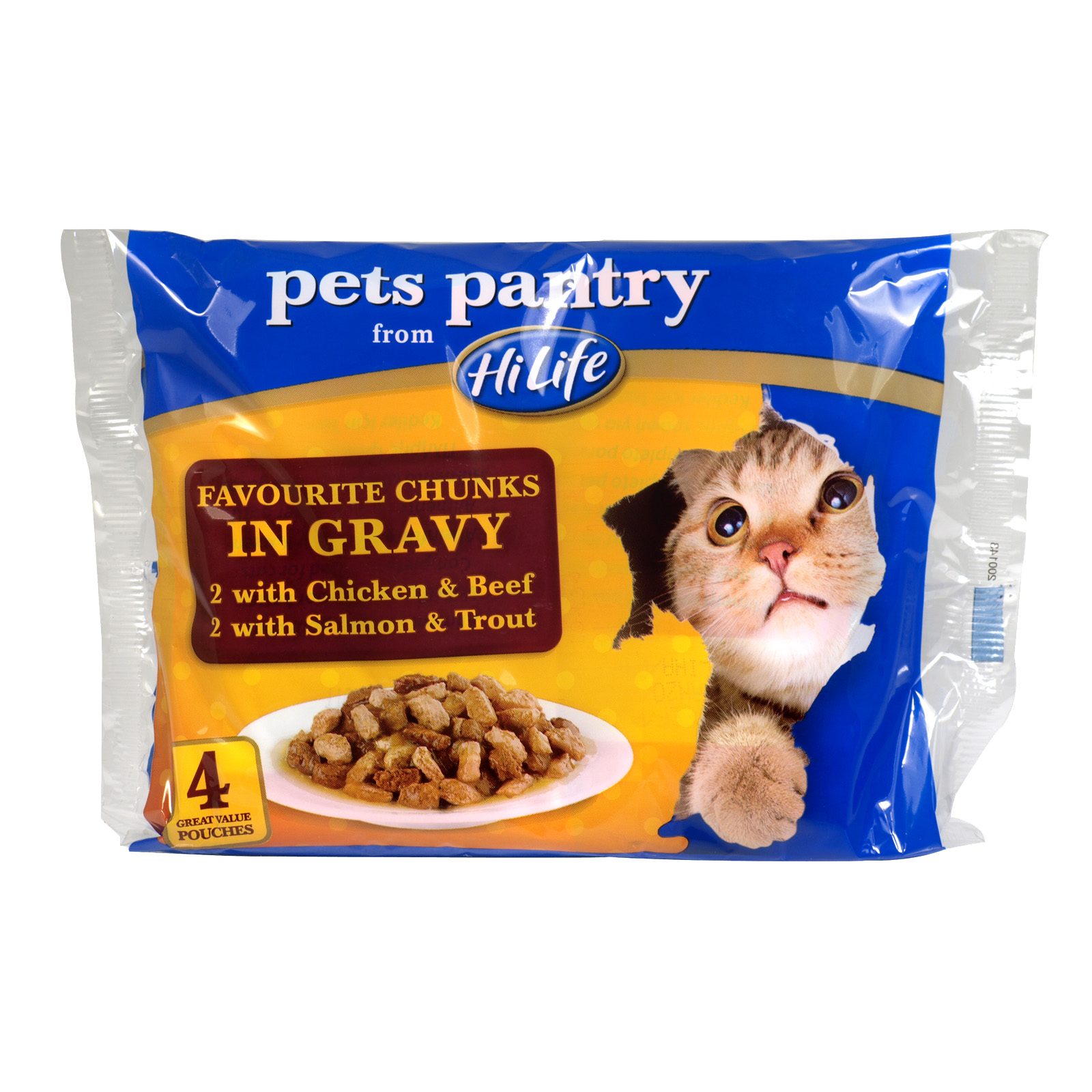PETS PANTRY FAV CHUNKS IN GRAVY 4PKX100GM X12