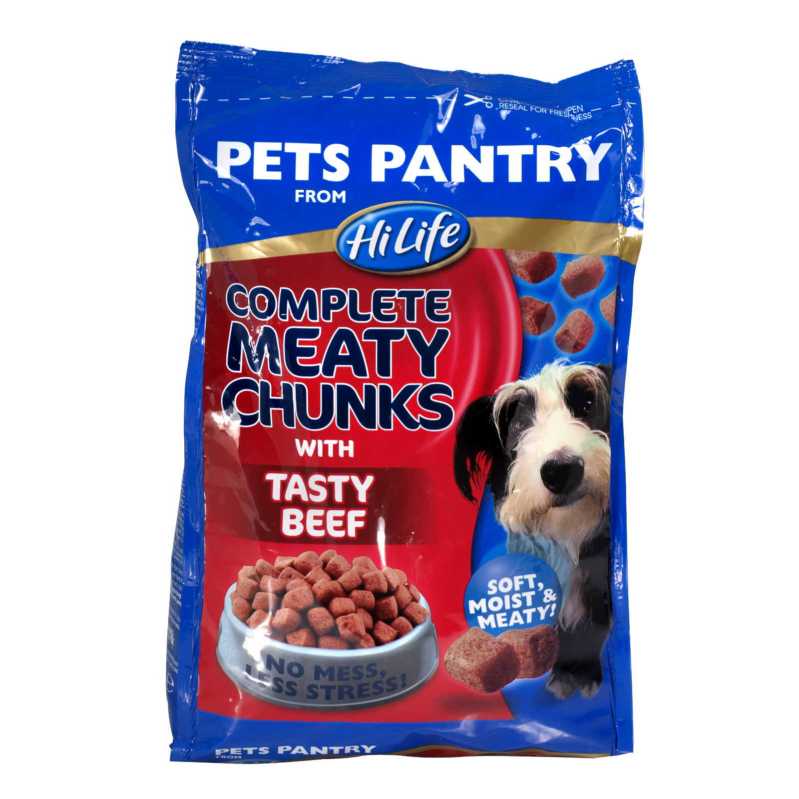 PETS PANTRY COMPLETE CHUNKS MINCE+BEEF 1KG X4