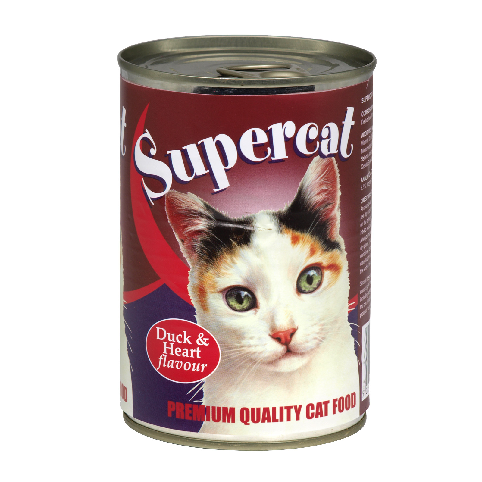 SUPERCAT CHUNKS DUCK & HEART 400GM X12