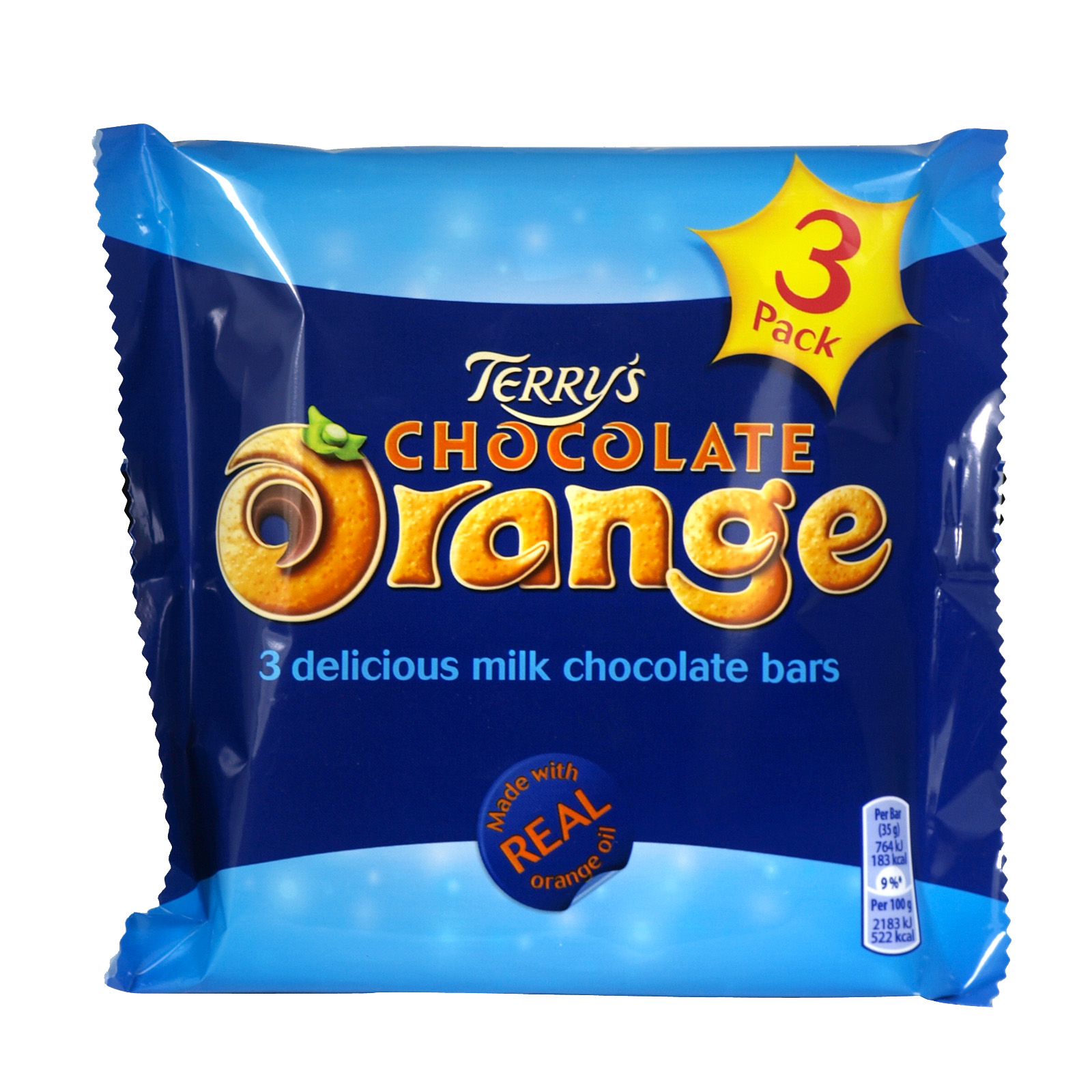 TERRYS CHOCOLATE ORANGE 3 PACK X16