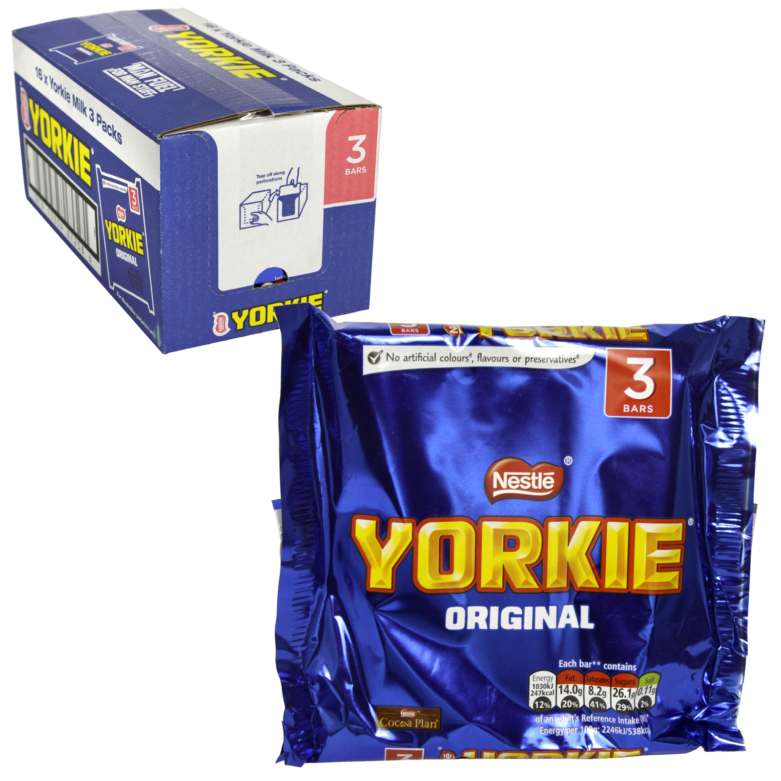 YORKIE ORIGINAL 3 PACK X16