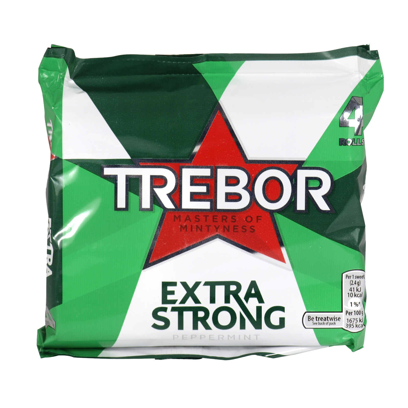 TREBOR EXTRA STRONG 4 PACK  X12