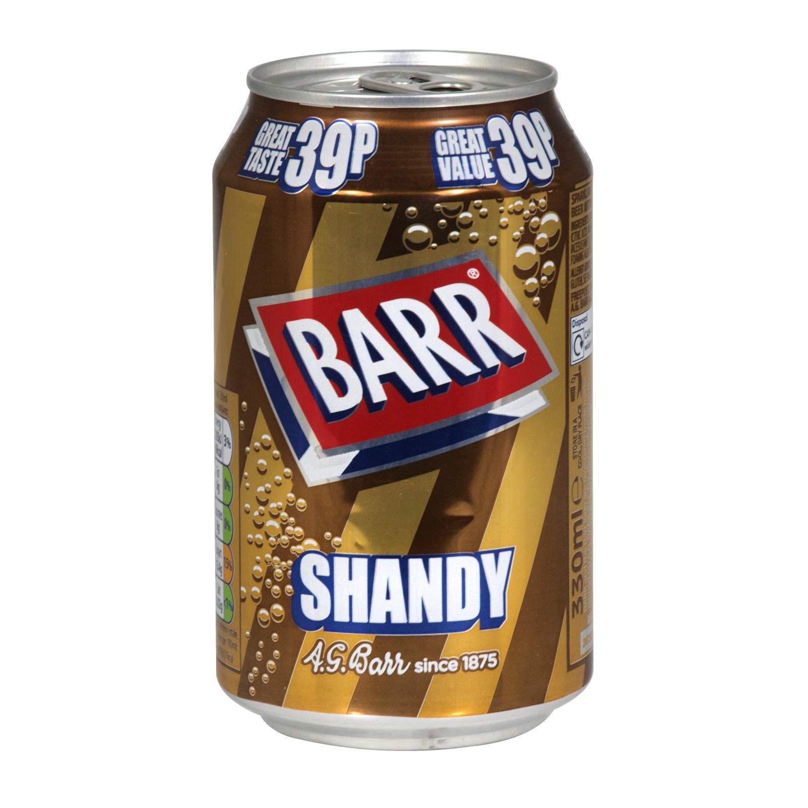 BARR 330ML CANS SHANDY PM 45P