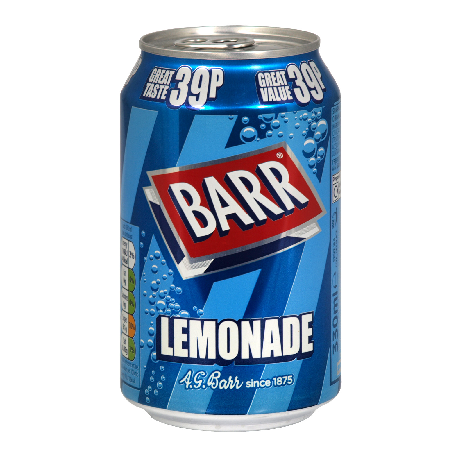 BARR 330ML CANS LEMONADE PM 39P