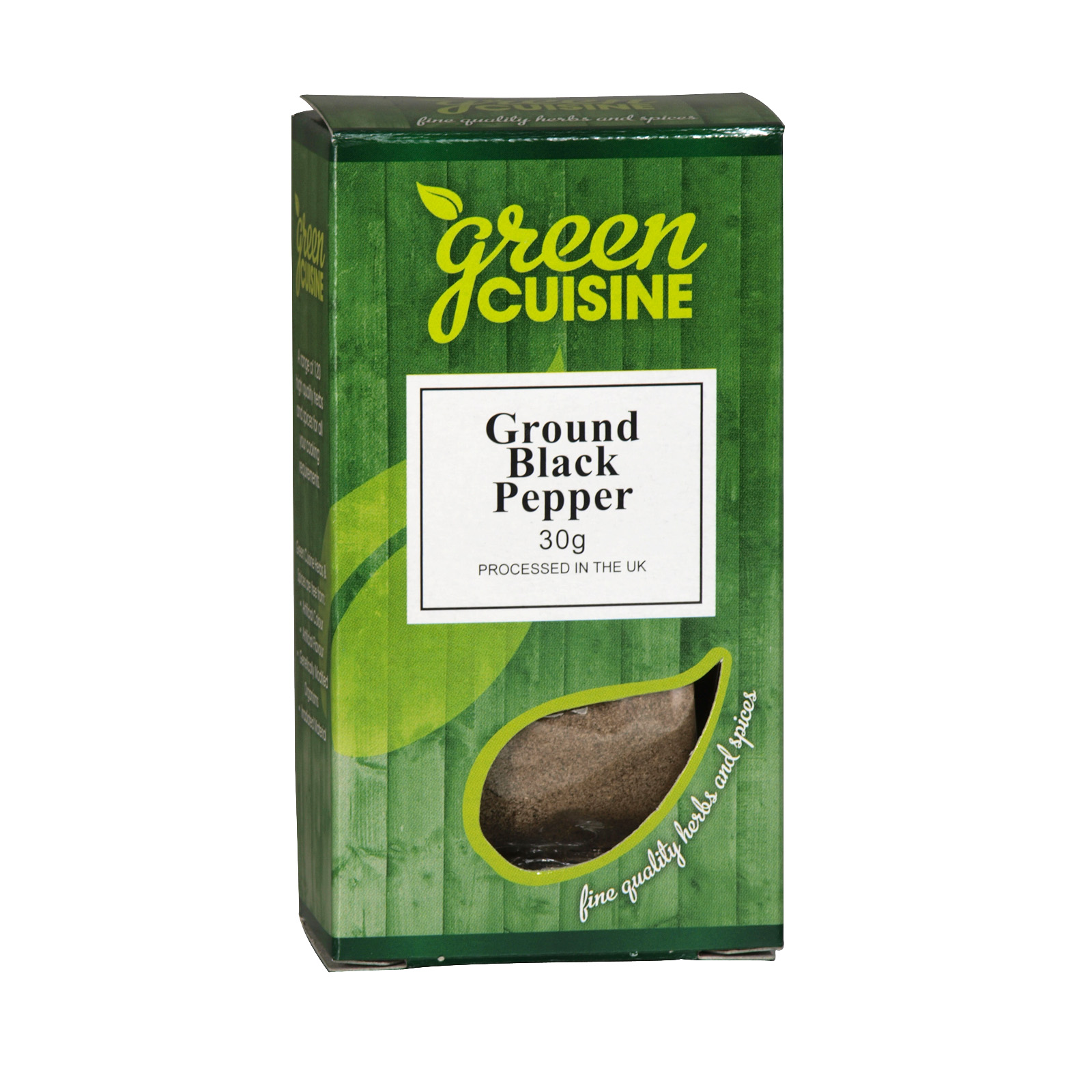 GREEN CUISINE (051) GROUND BLACK PEPPER 30G