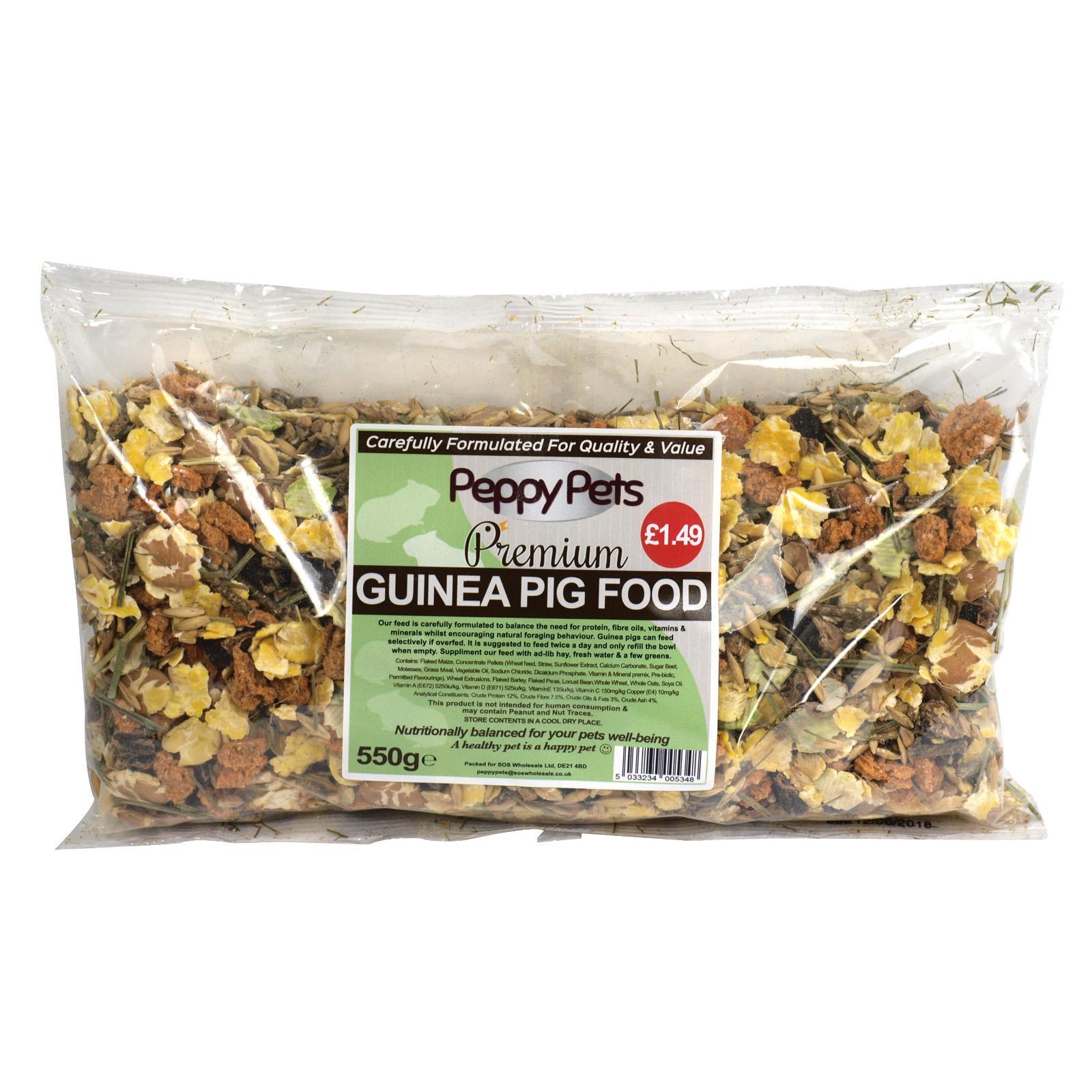 PEPPY PETS GUINEA PIG FOOD PM?1.49 550GM