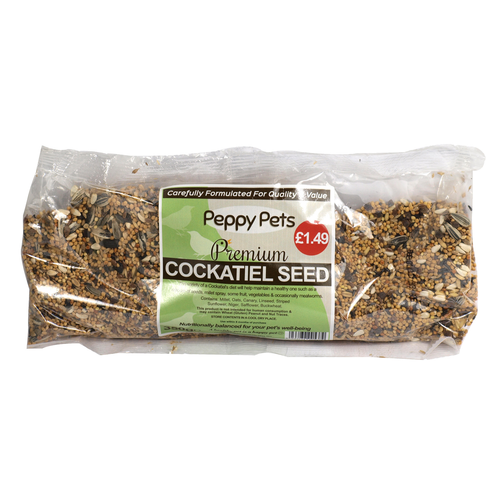PEPPY PETS COCKATIEL SEED PM?1.49 350GM