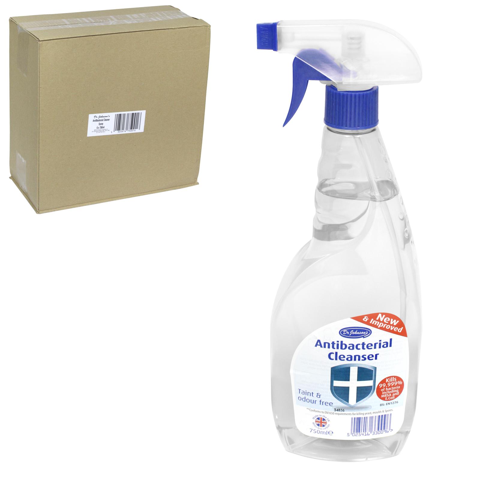 DR JOHNSON ANTI+BAC CLEANSER 750ML X6