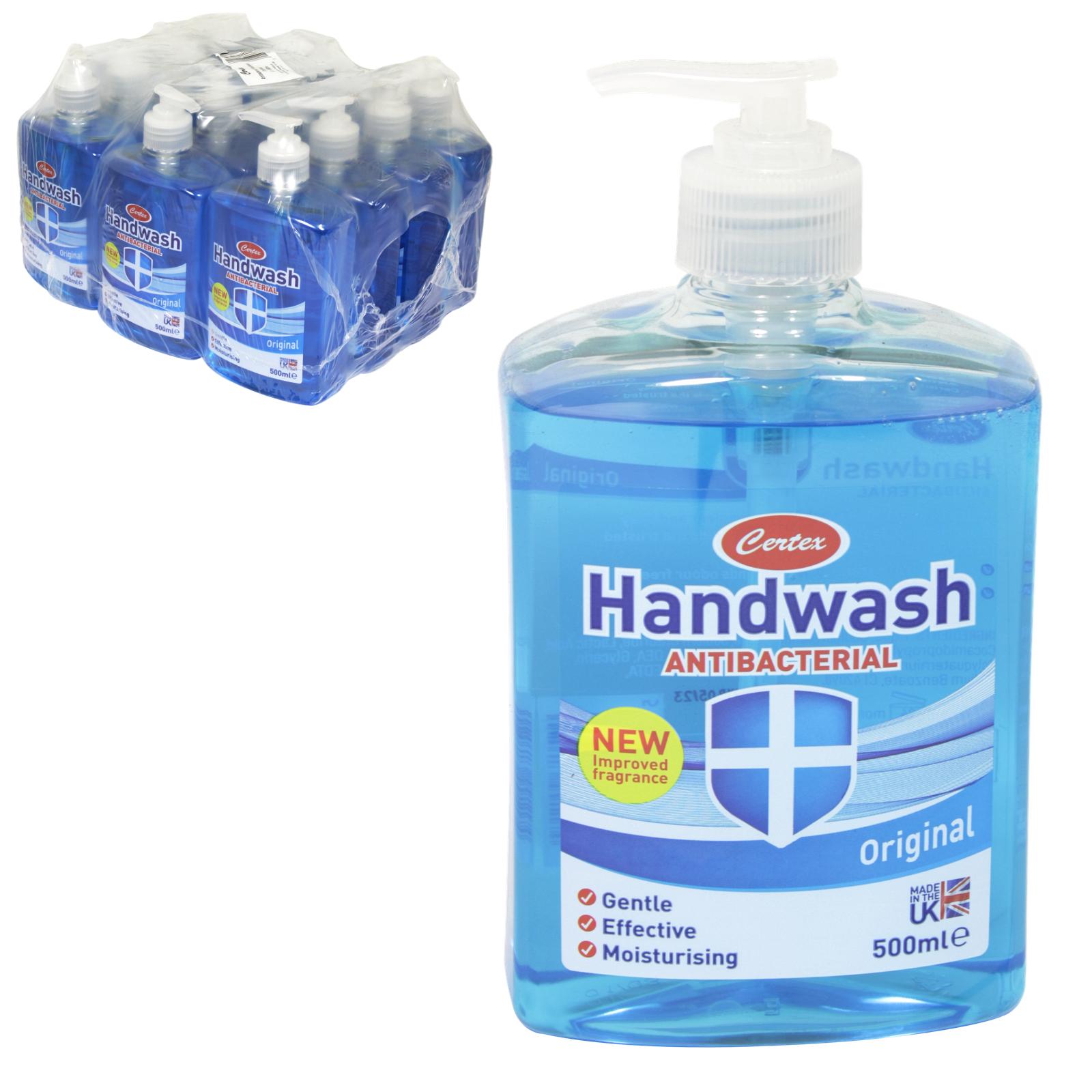 CERTEX ANTI-BAC HAND WASH ORIGINAL BLUE X12