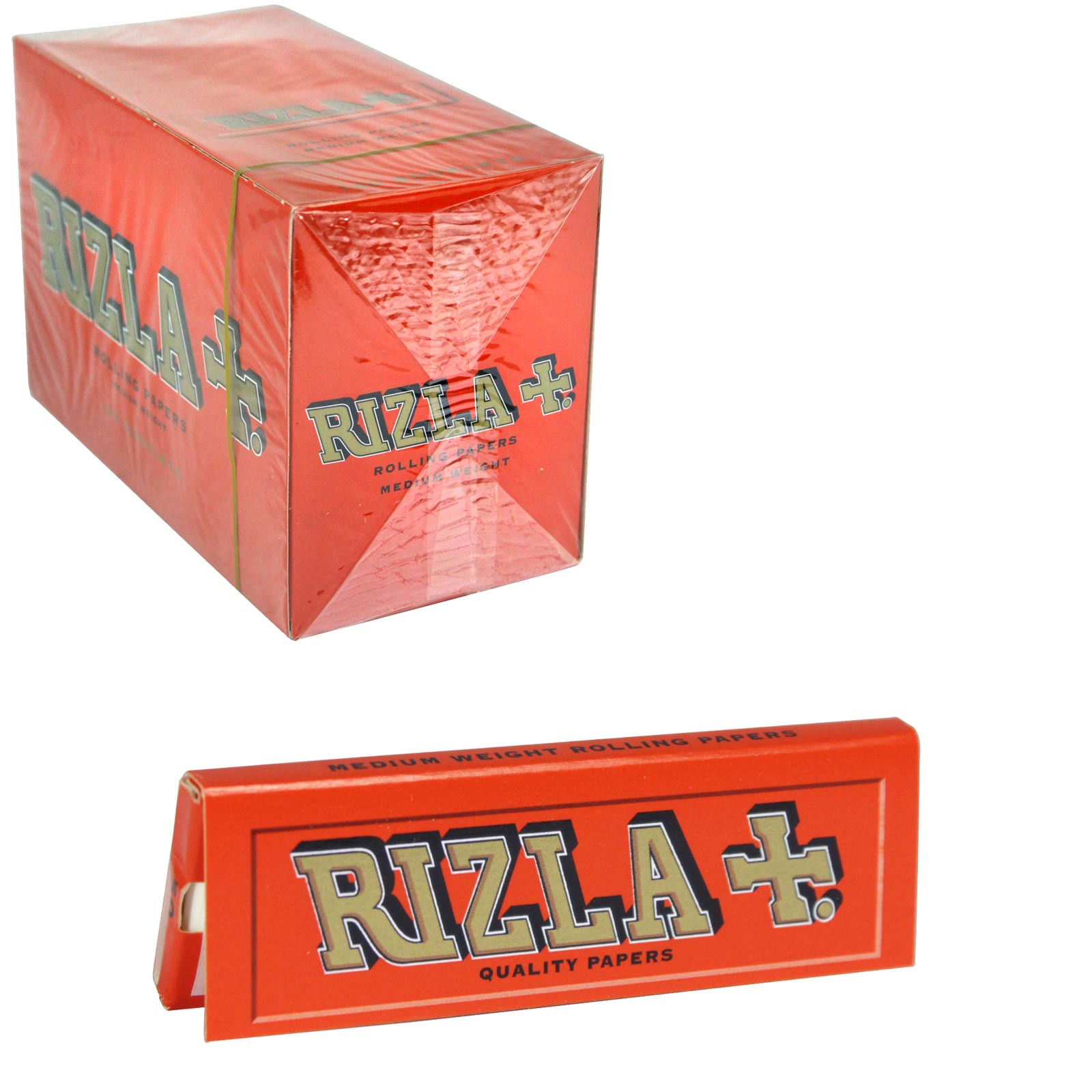 RIZLA CIGARETTE PAPERS STD RED 50 LEAVES X100