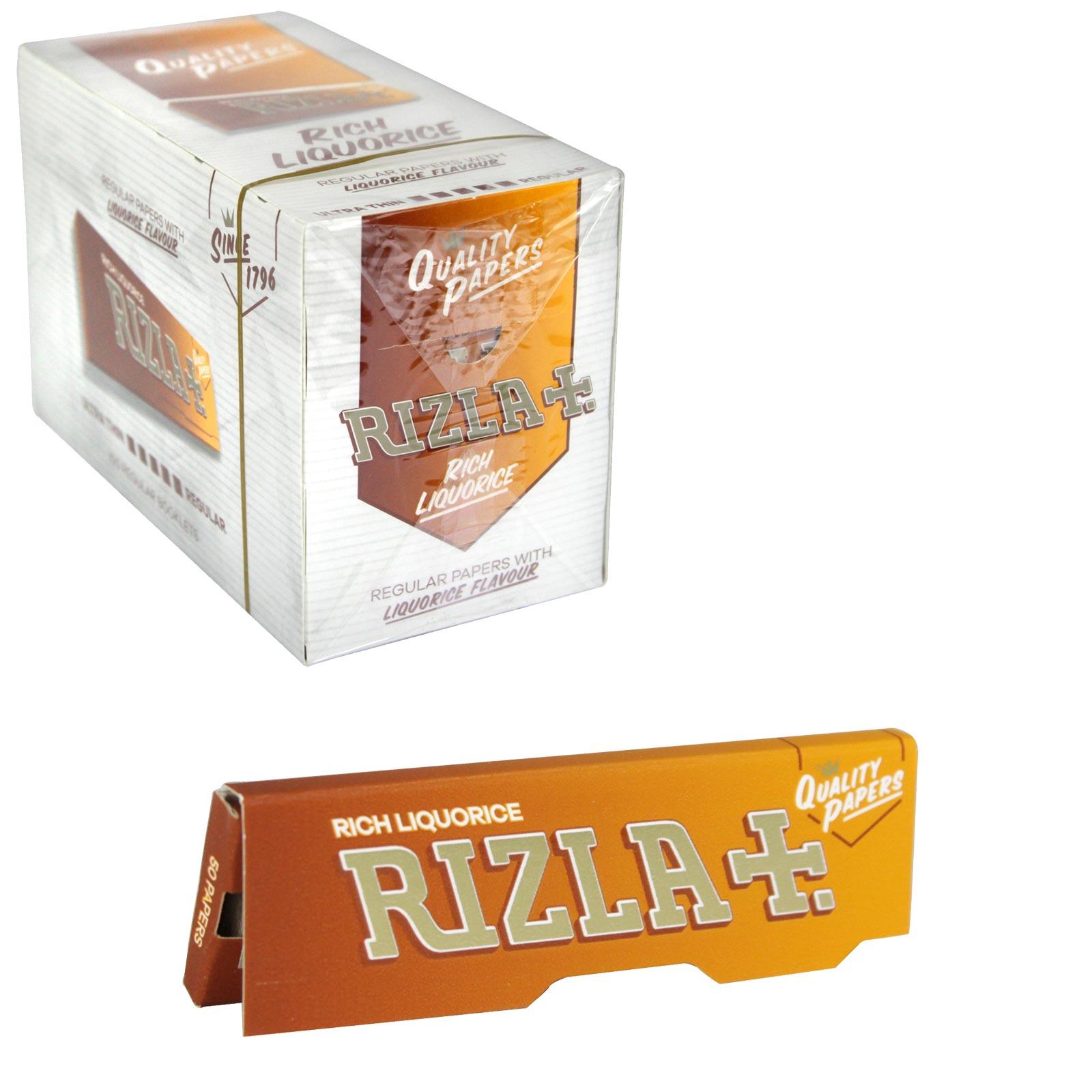 RIZLA CIGARETTE PAPERS STD LIQUORICE X100