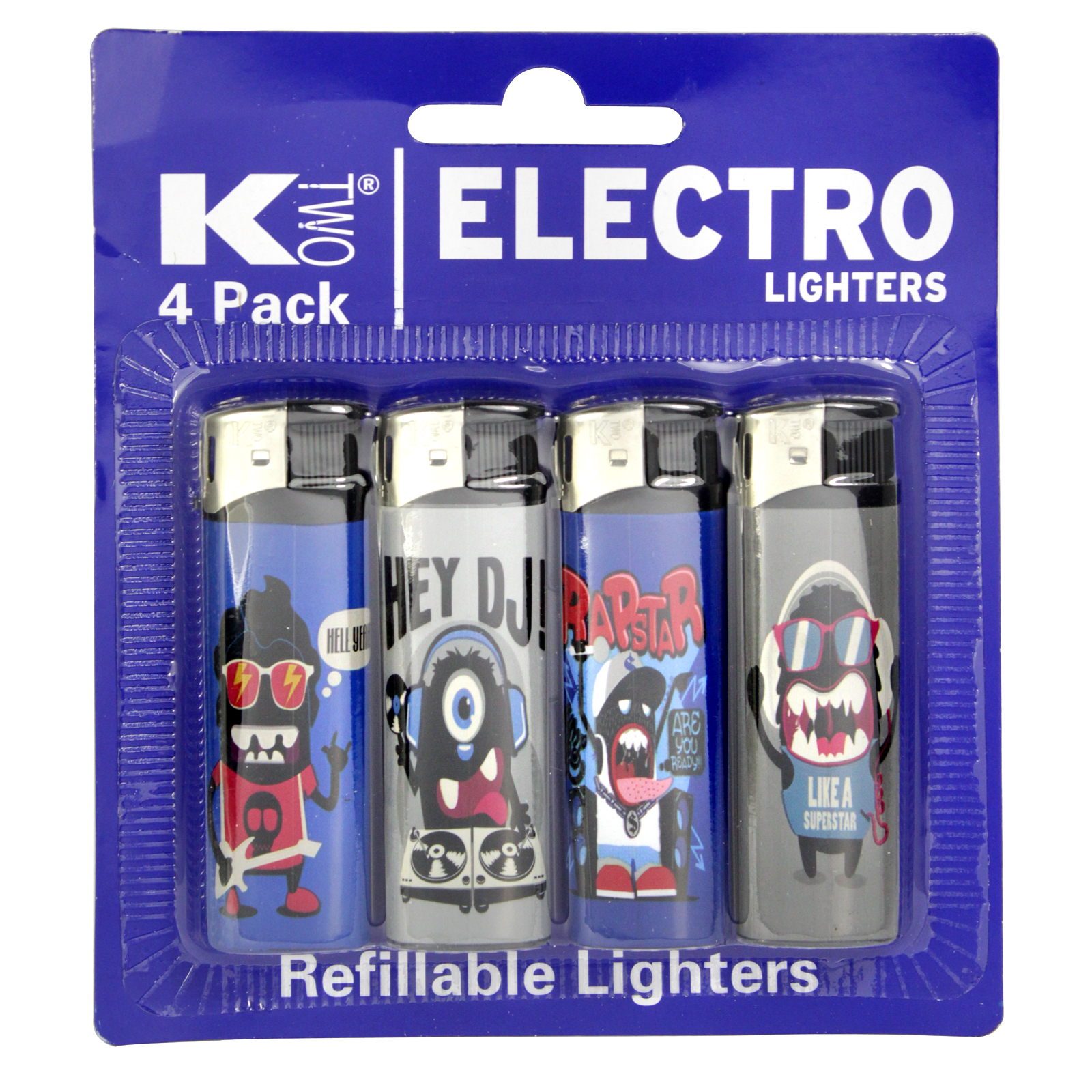KTWO 4PK ELECTRONIC LIGHTERS MUSIC