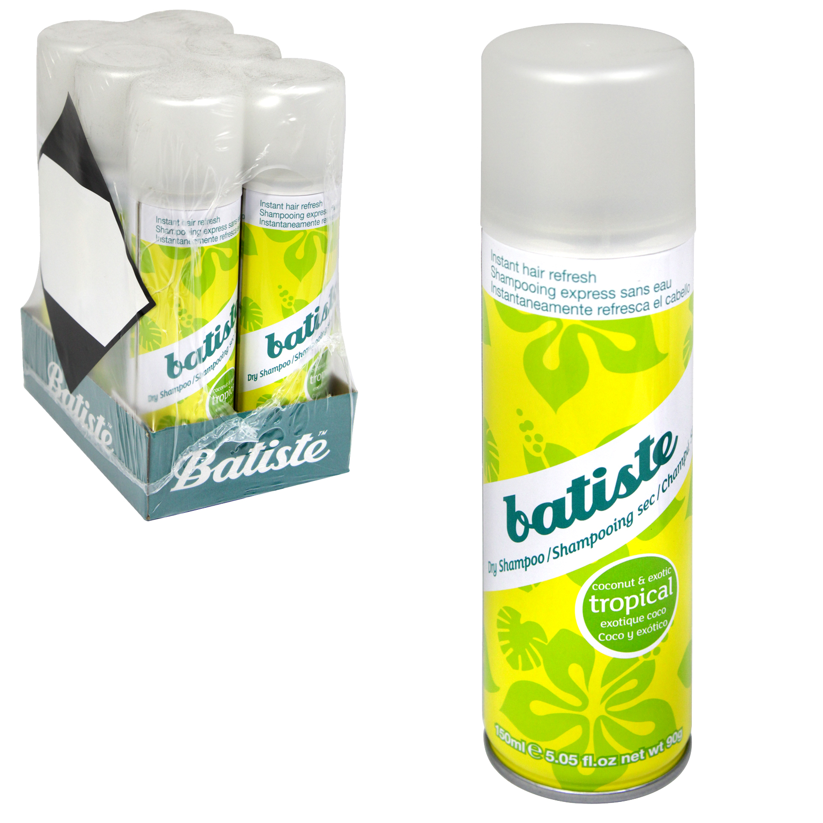 BATISTE DRY SHAMPOO 150ML TROPICAL X6