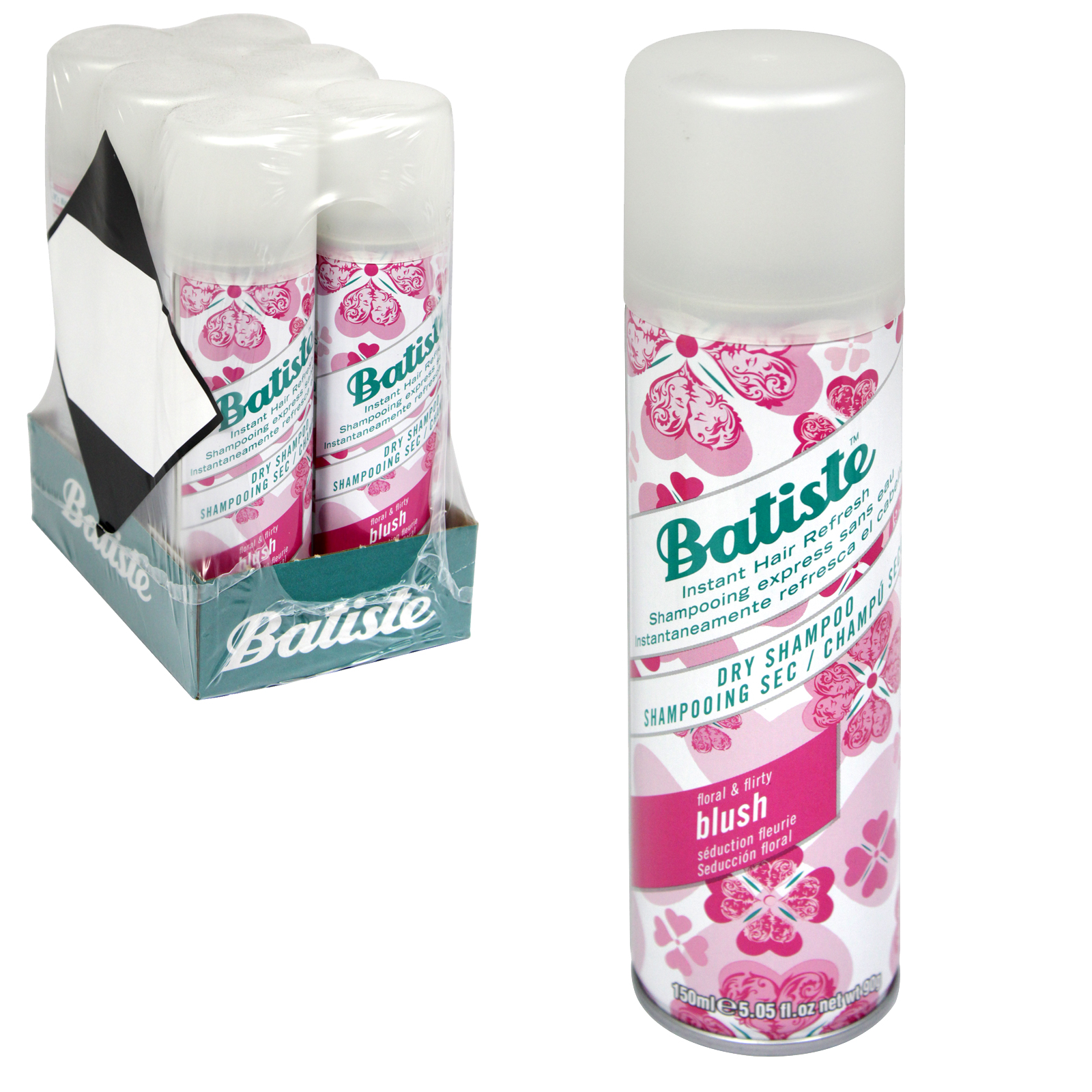 BATISTE DRY SHAMPOO 150ML BLUSH X6