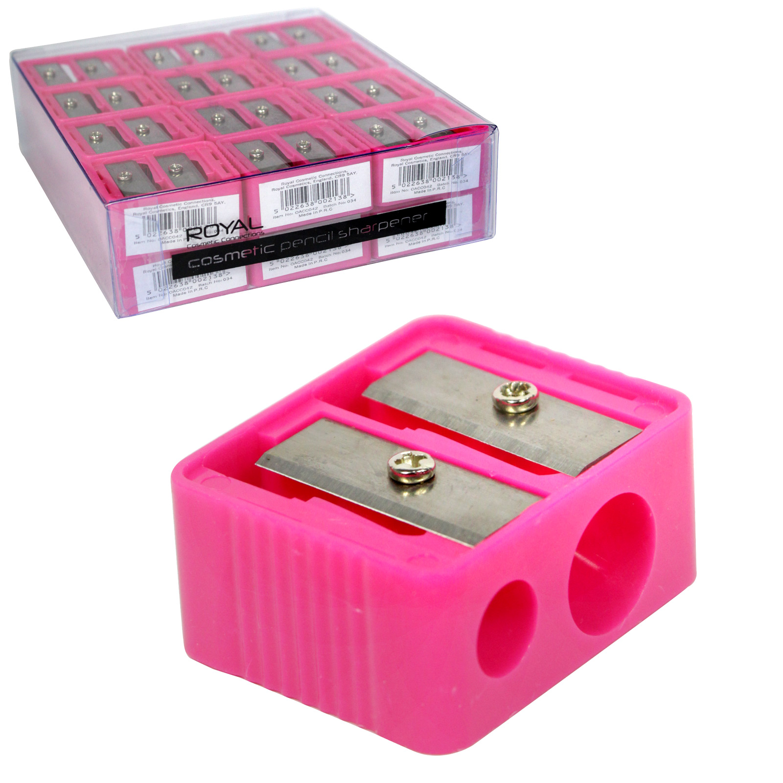 ROYAL DOUBLE COSMETIC SHARPENER X24