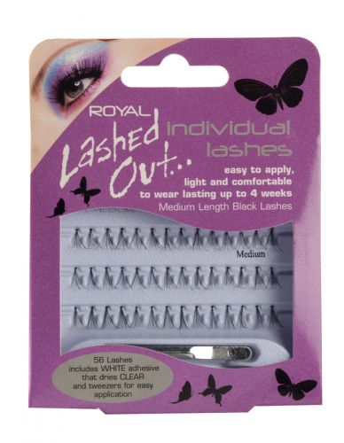 ROYAL LASHED OUT INDIVIDUAL LASHES LONG MEDIUM X12