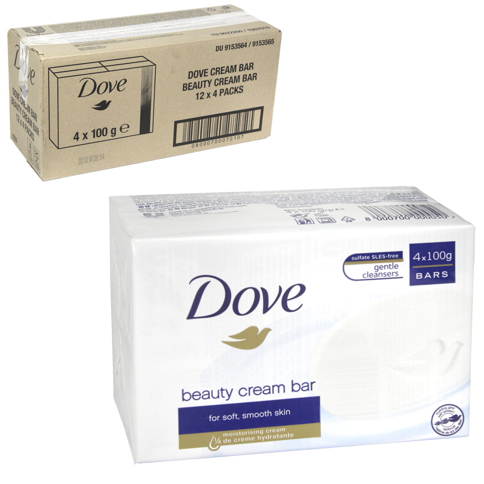 DOVE SOAP 4X100GM ORIGINAL X 12