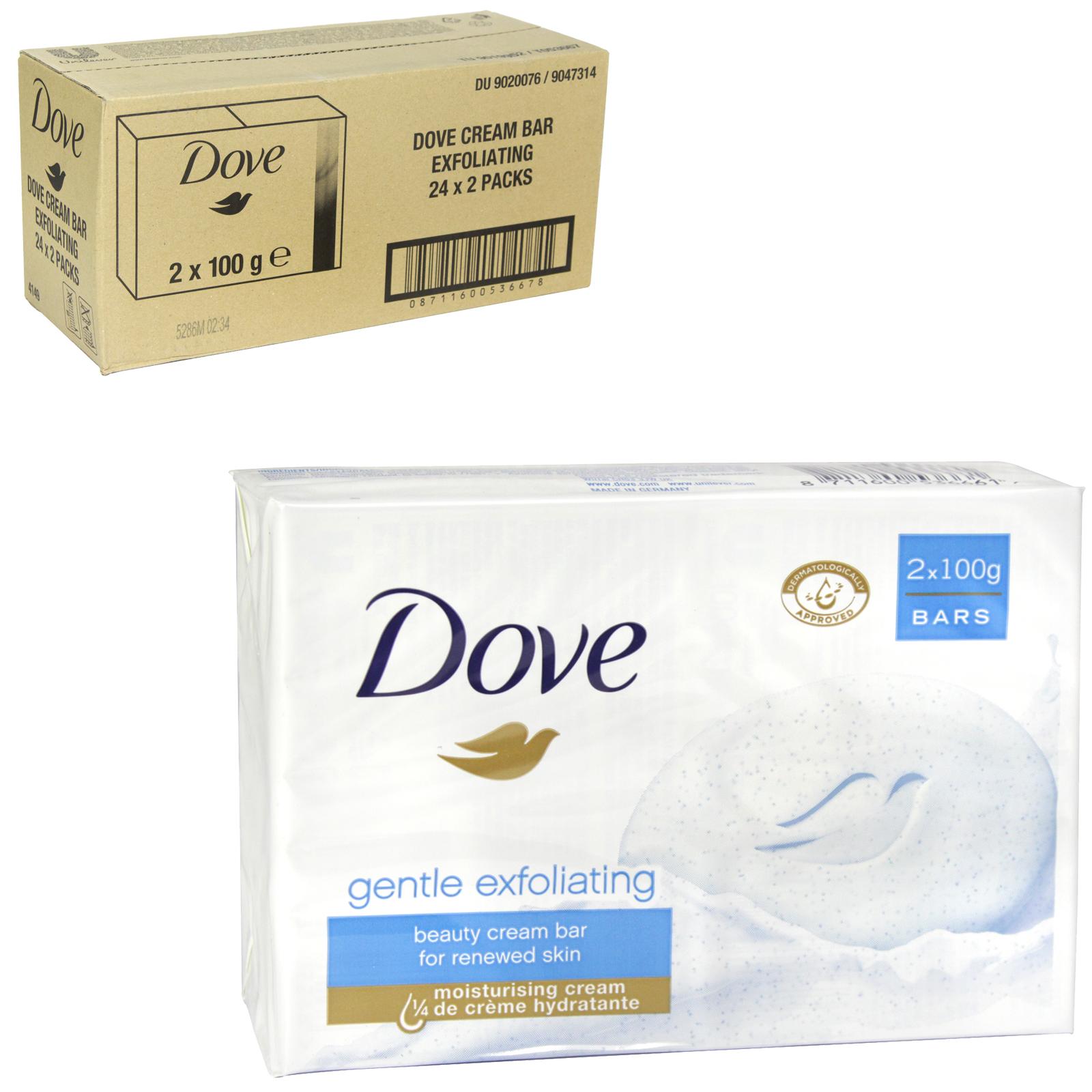 DOVE SOAP 2X100GM EXFOLIATING X 24